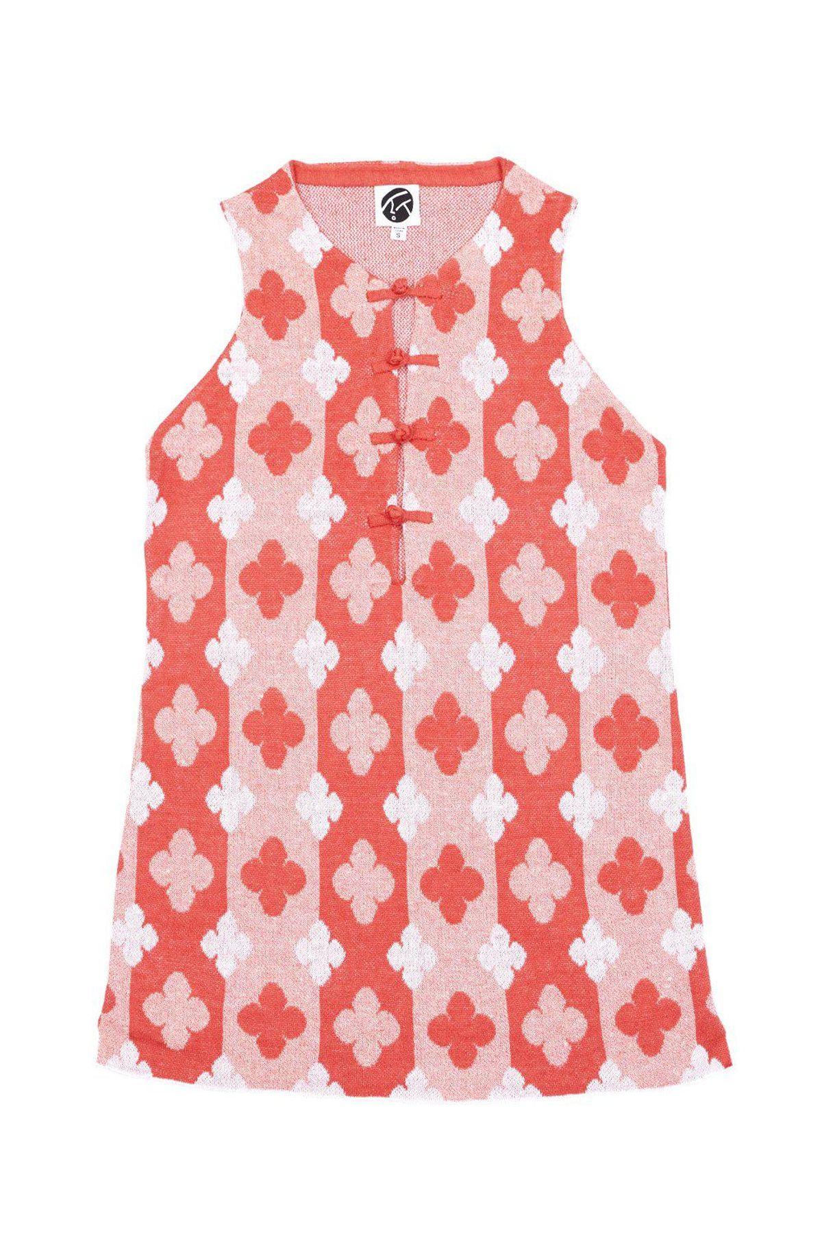 yanyan knits may mini dress in strawberry linen