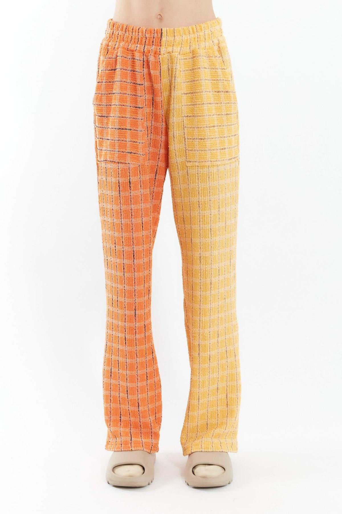 division yellow orange lounge pants