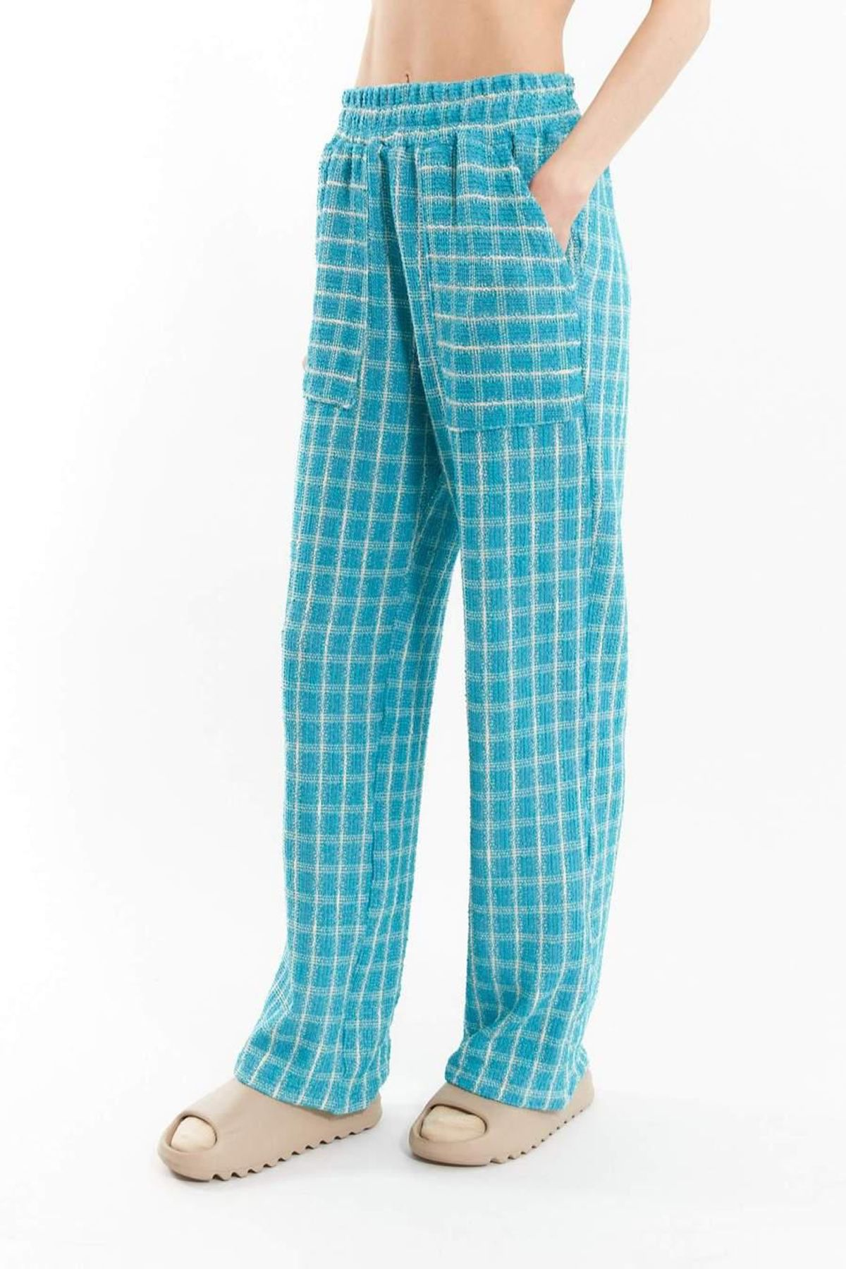 division turquoise lounge pants