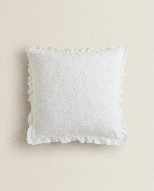 Floral Jacquard Throw Pillow
