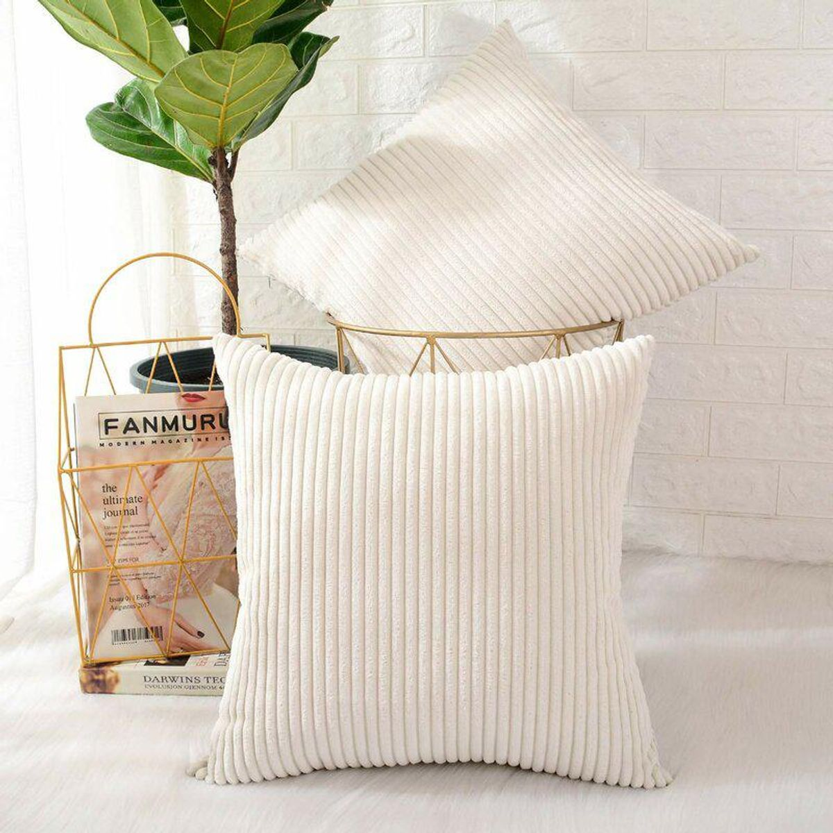 Ayedin Square Throw Pillow Cover (Set of 2)