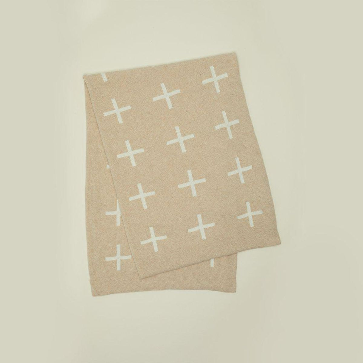Cross Knit Throw