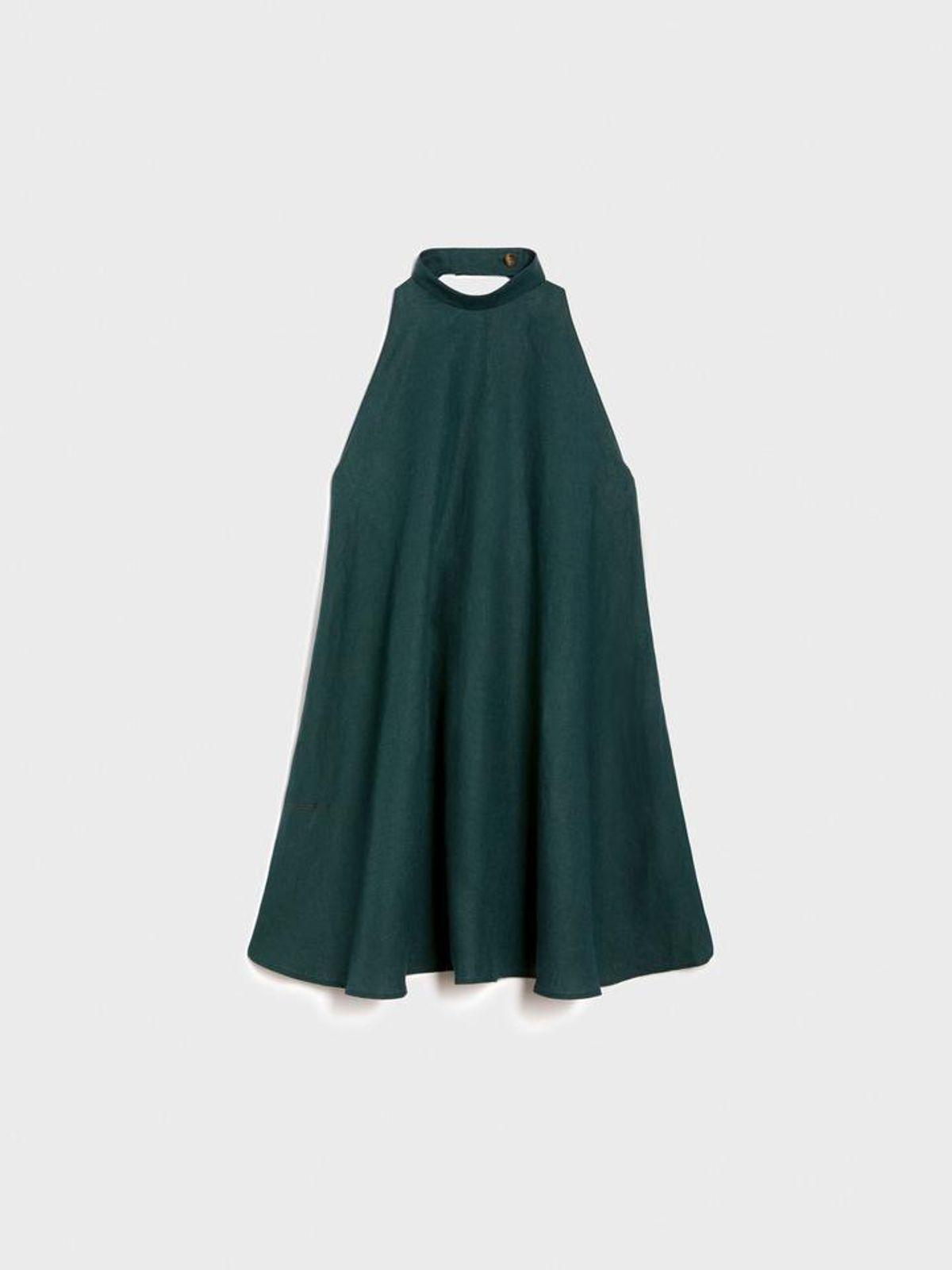 Women's Aloe Linen Halterneck Dress