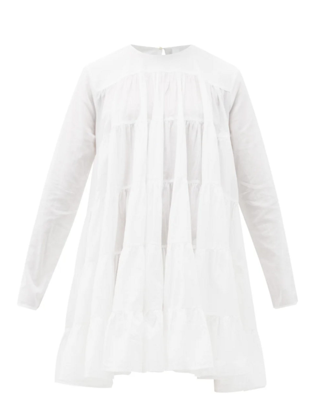Soliman Tiered Cotton Mini Dress