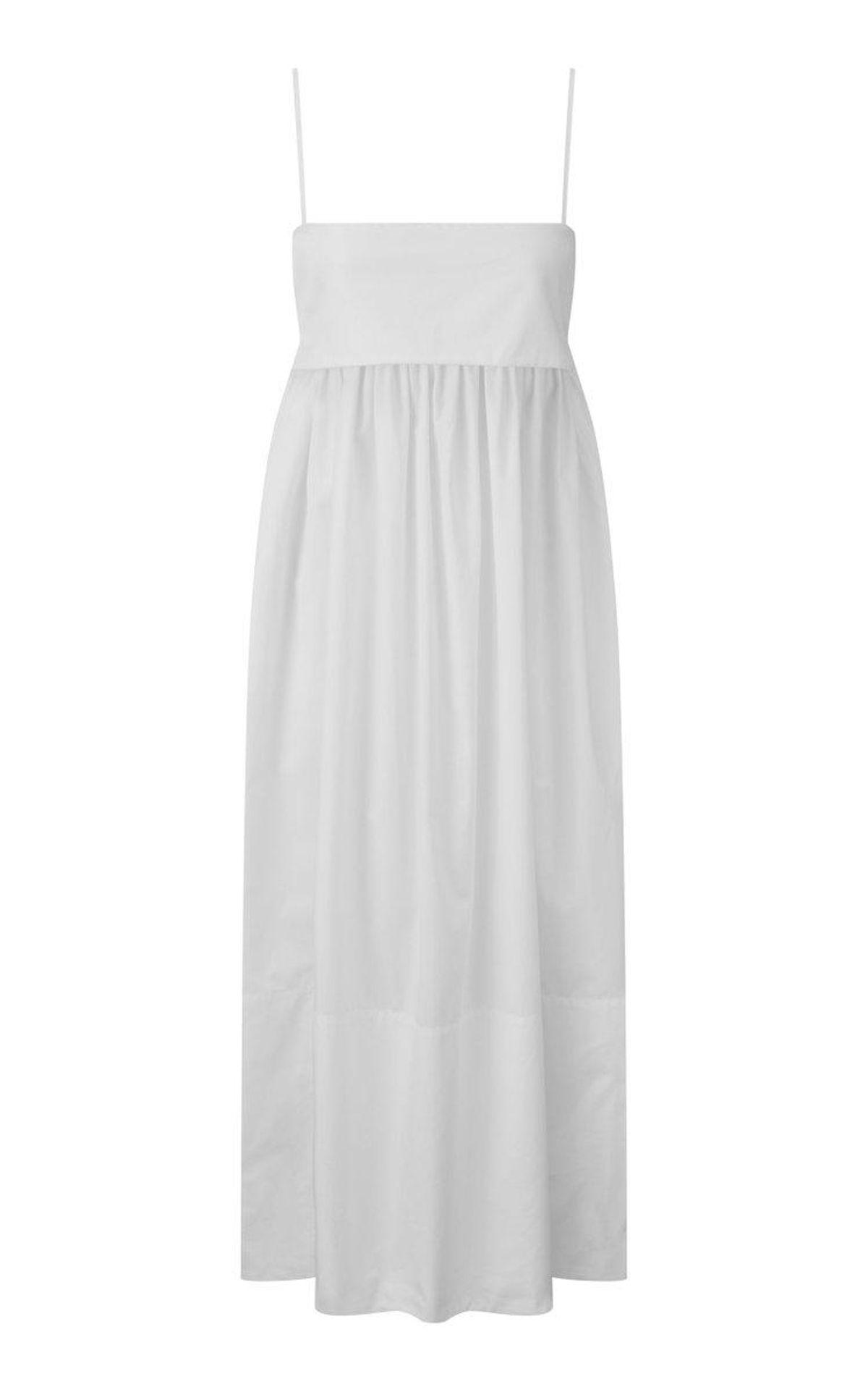Structured Bandeau Cotton Babydoll Dress