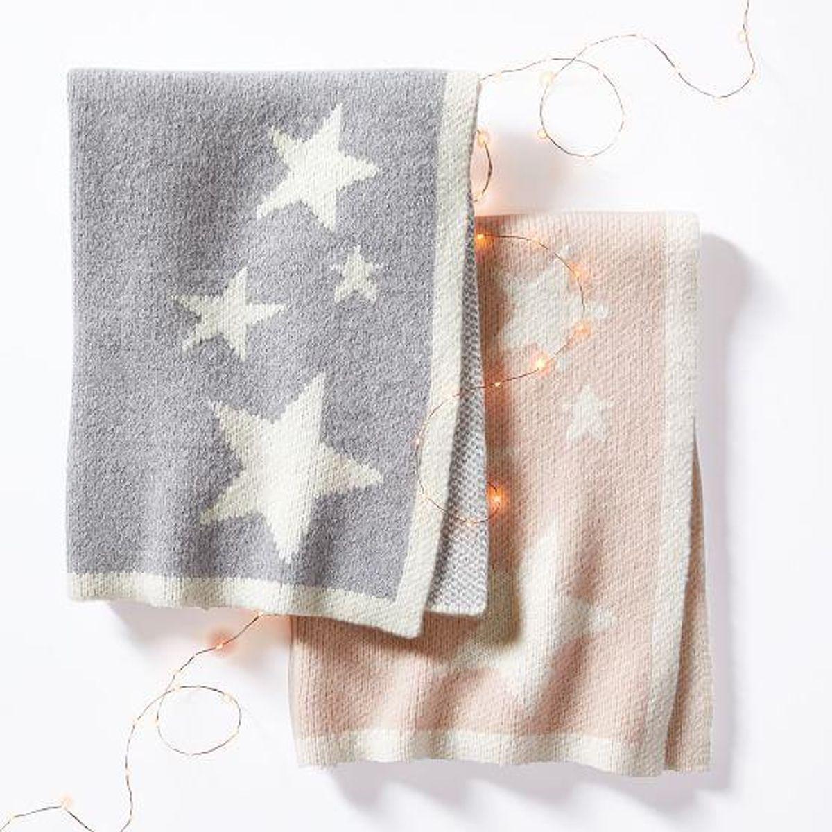 Star Knit Baby Blanket