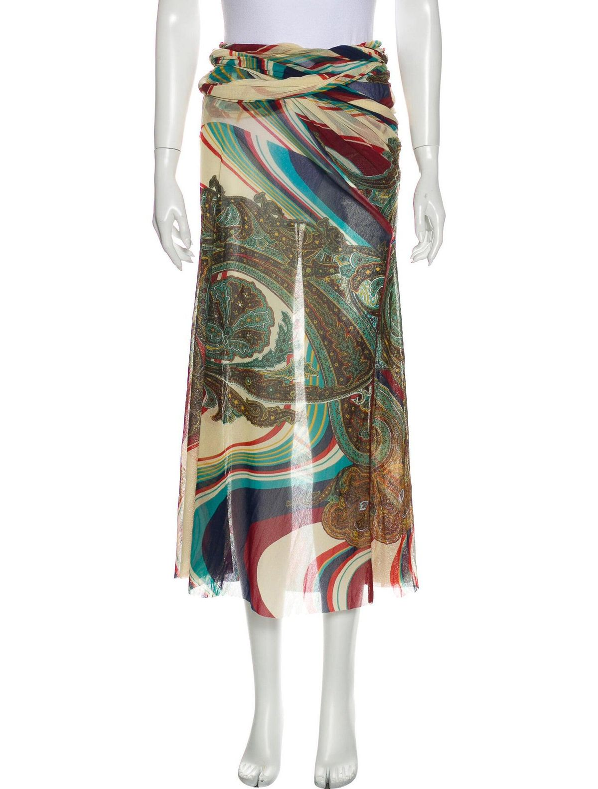 Paisley Print Long Skirt