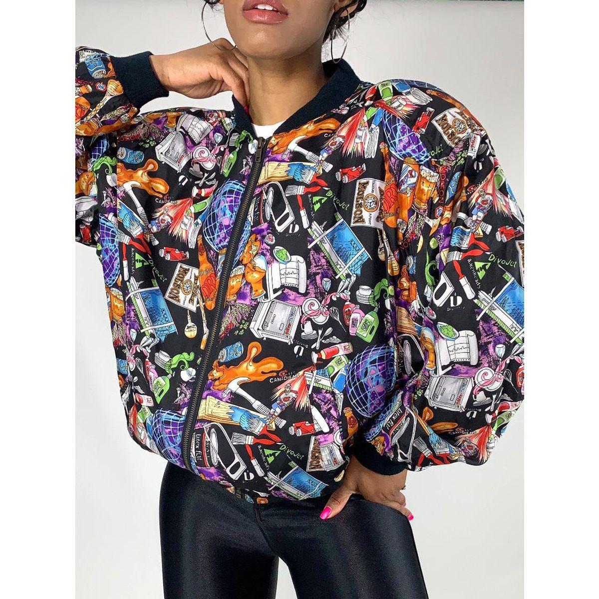 Nicole Miller Printed Silk Jacket