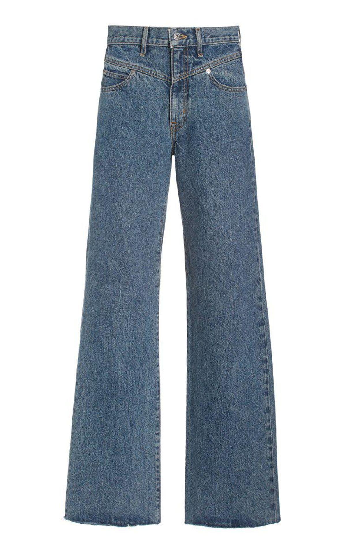 Grace Double Yoke Rigid High-rise Wide-leg Jeans