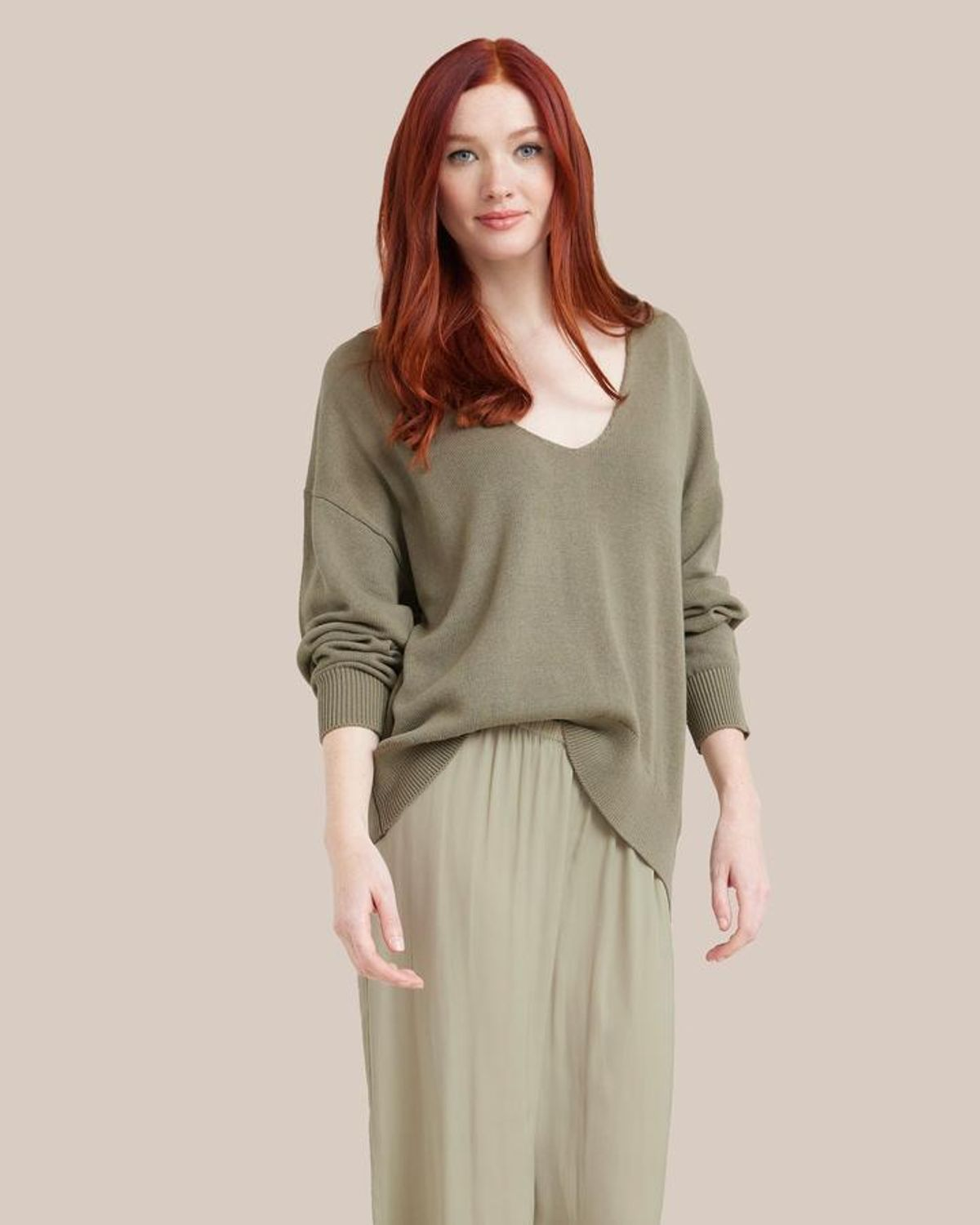 Chase Relaxed V-neck Sweater