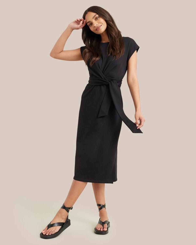 Cassandra Tie-front Wrap Dress