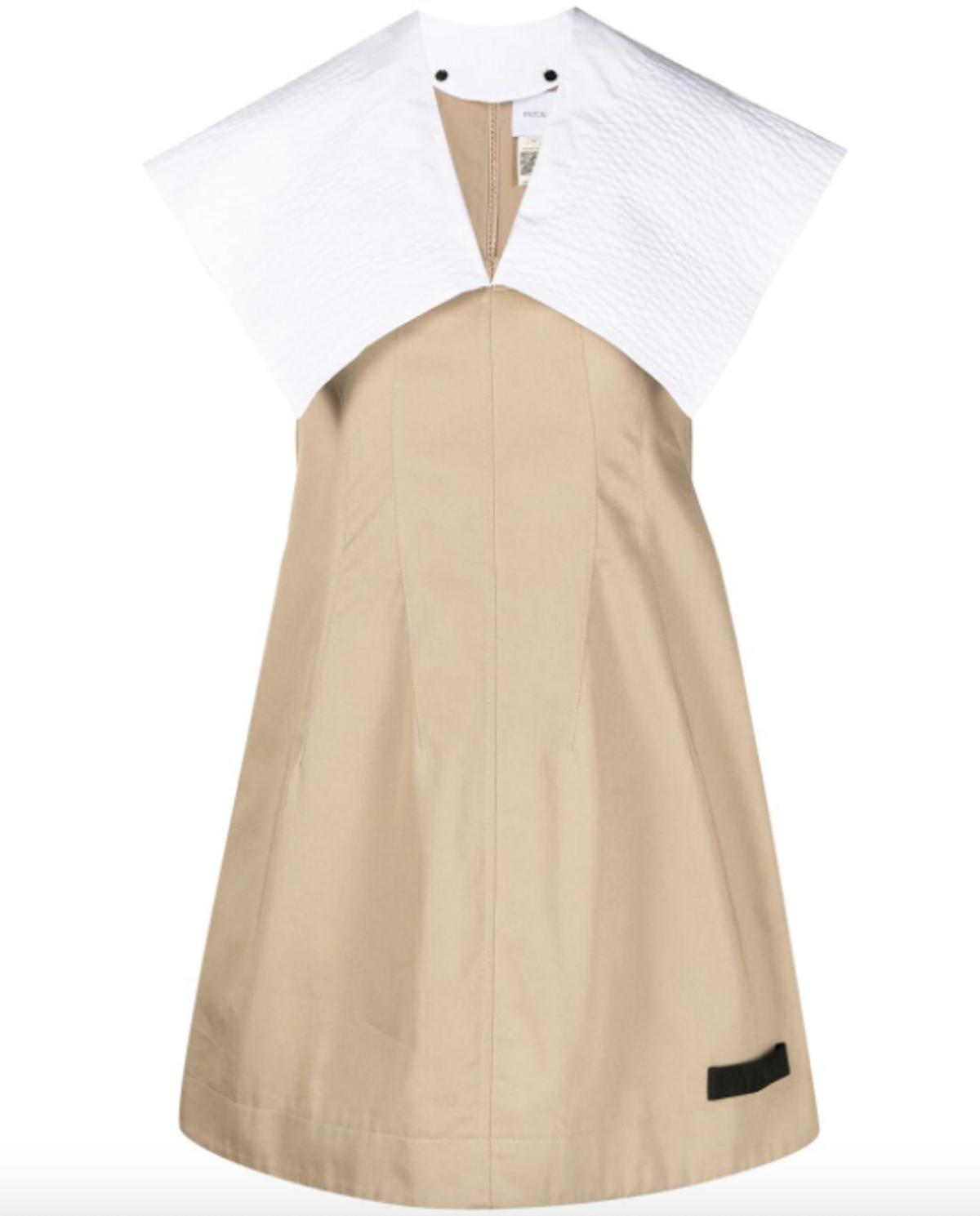 Organic Cotton Gabardine Mini Dress