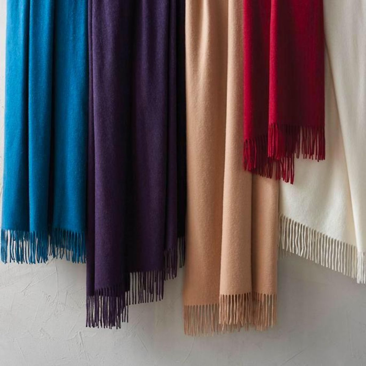 frontgate cashmere fringe throw