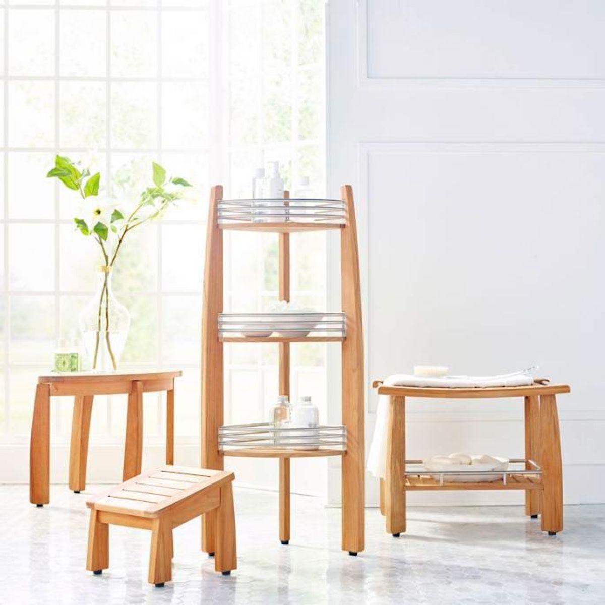 frontgate resort teak bath furniture collection