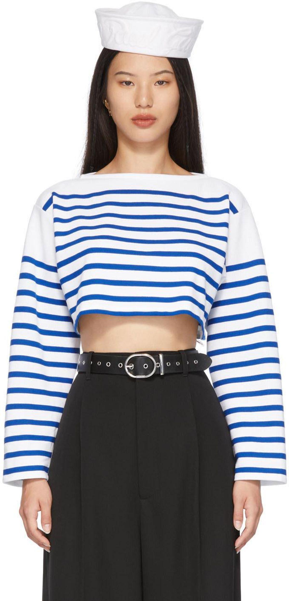 Les Marins Sailor Crop Long Sleeve T-shirt
