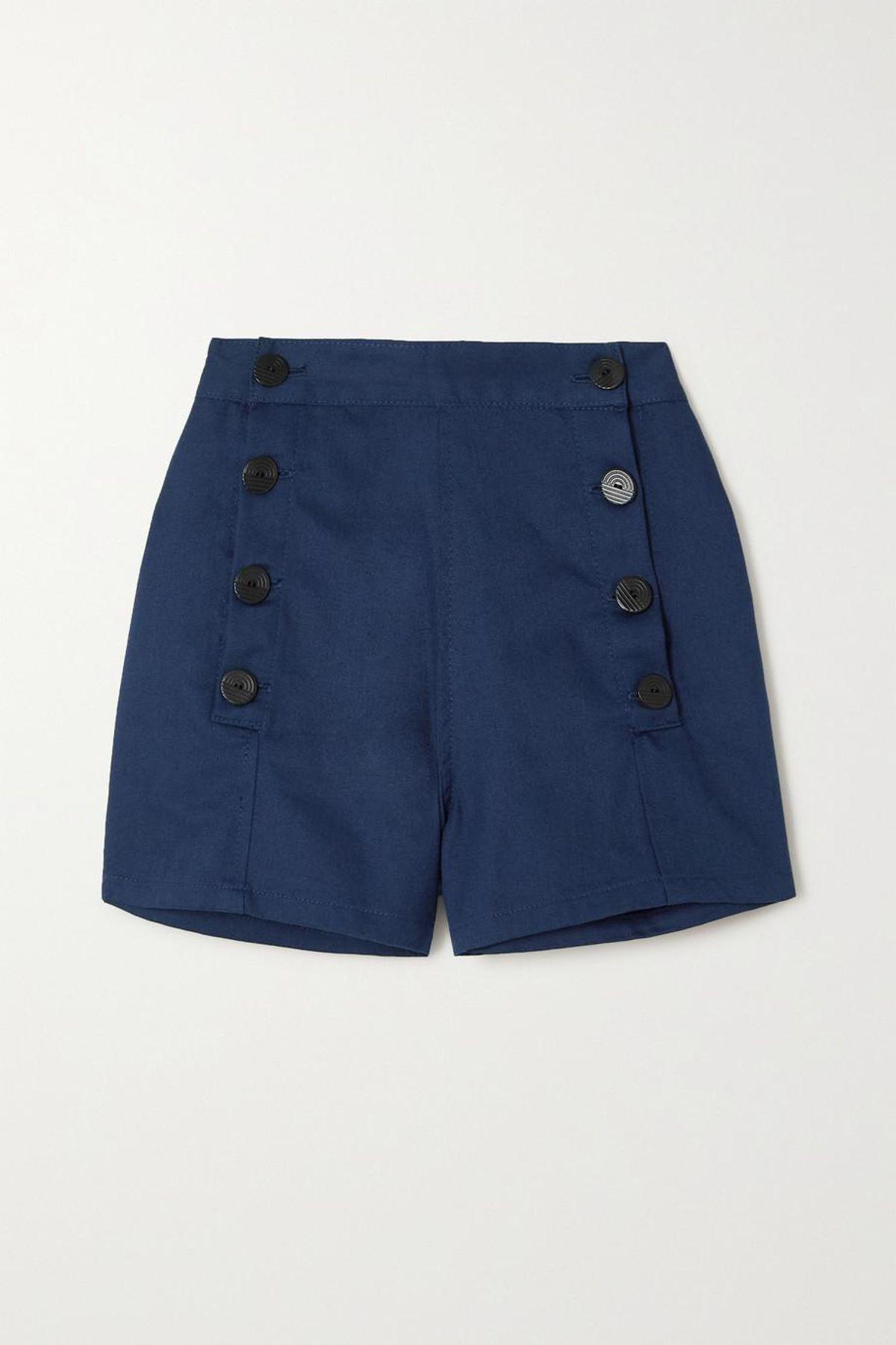Sailor Cotton Twill Shorts