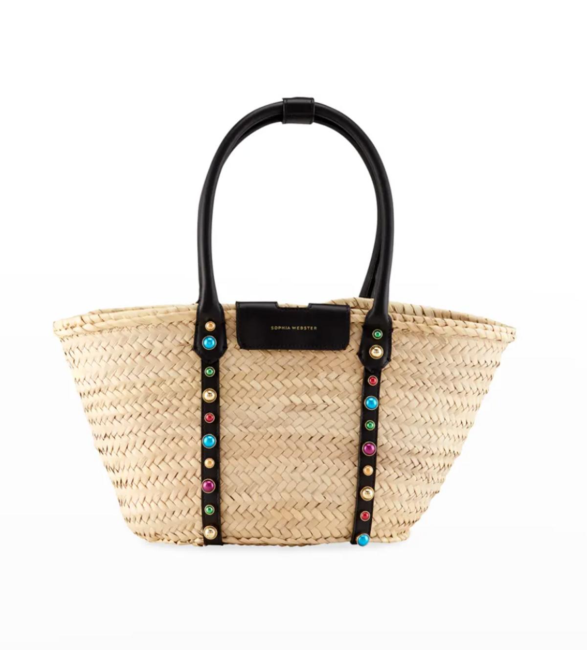 Diana Multicolor Stud Palm Tote Bag