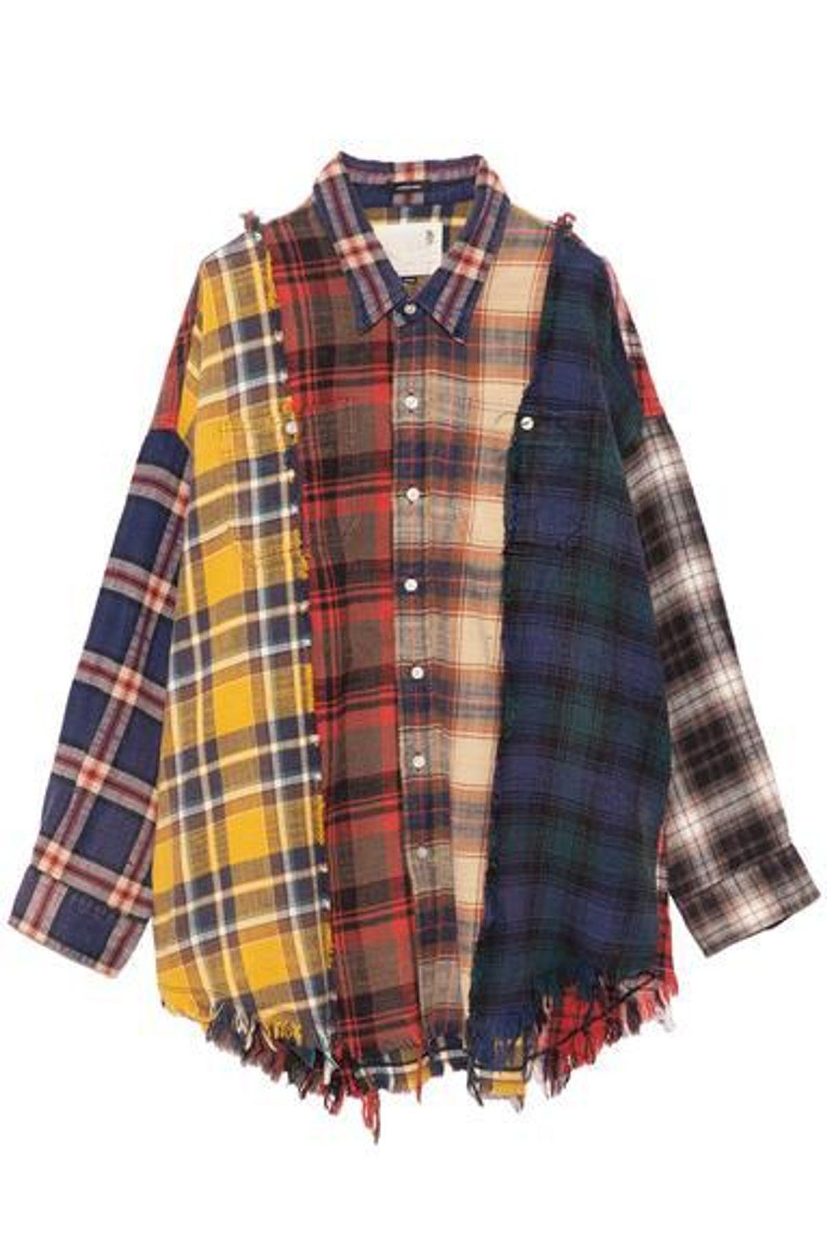 Denim Multi Plaid Shirt