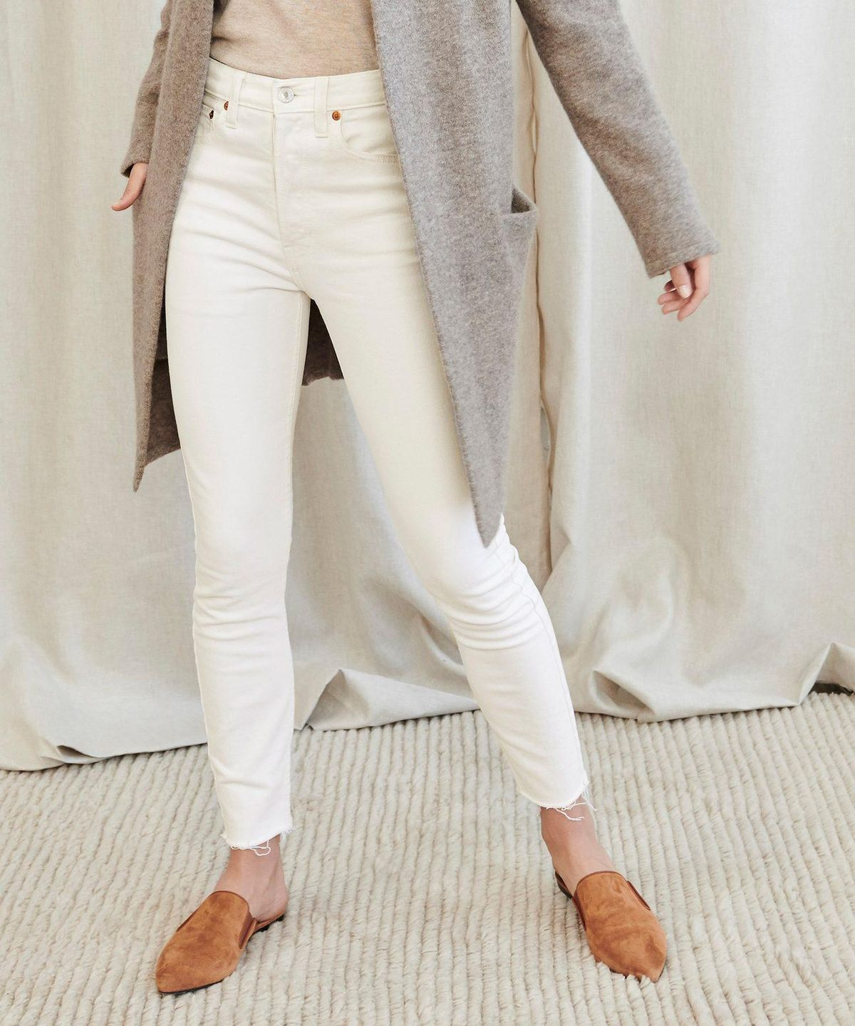 redone high rise ankle crop jean