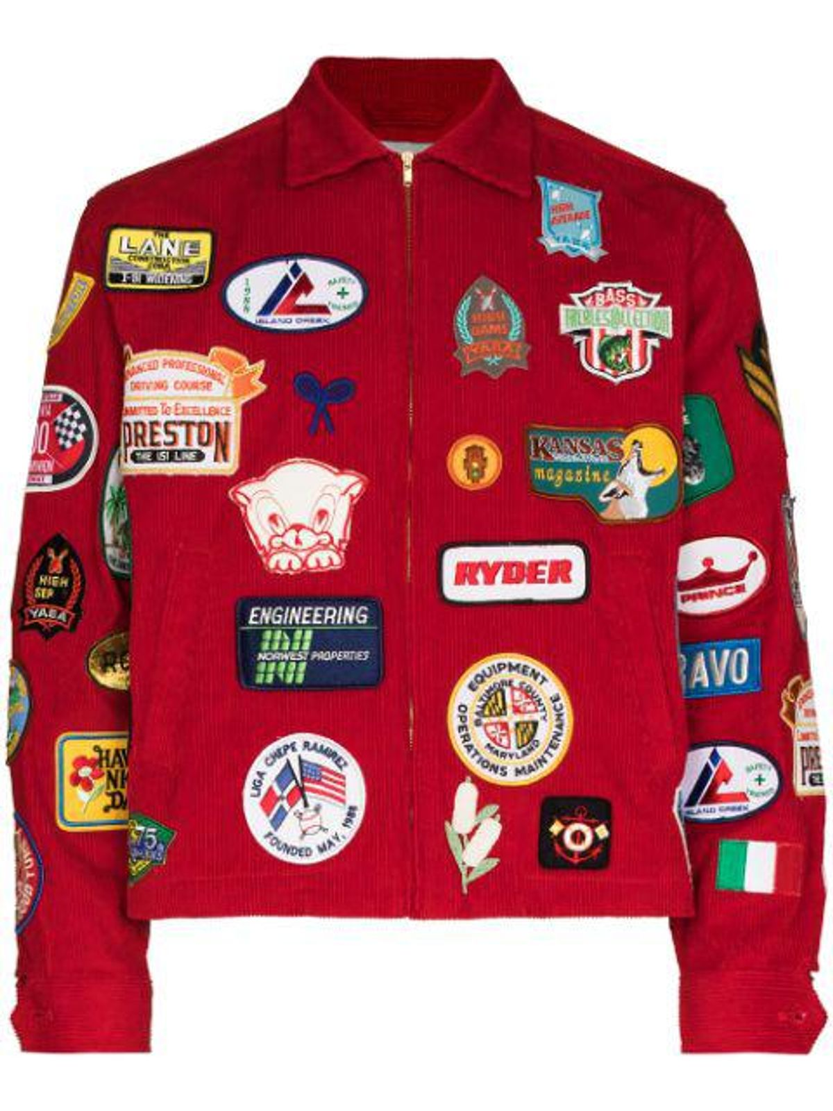 Multiple-patch Shirt Jacket