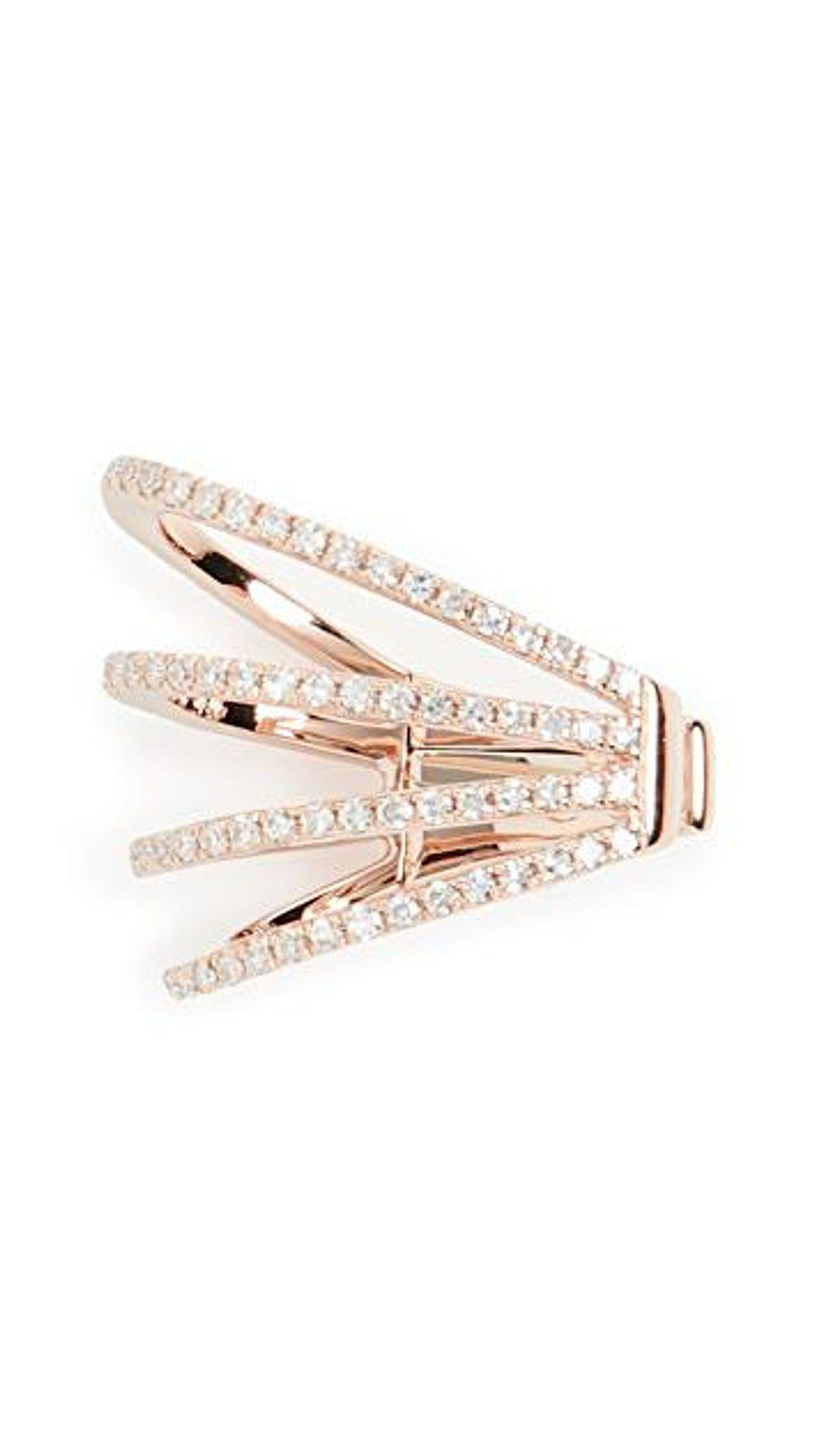 ef collection 14k diamond cage no piercing ear cuff