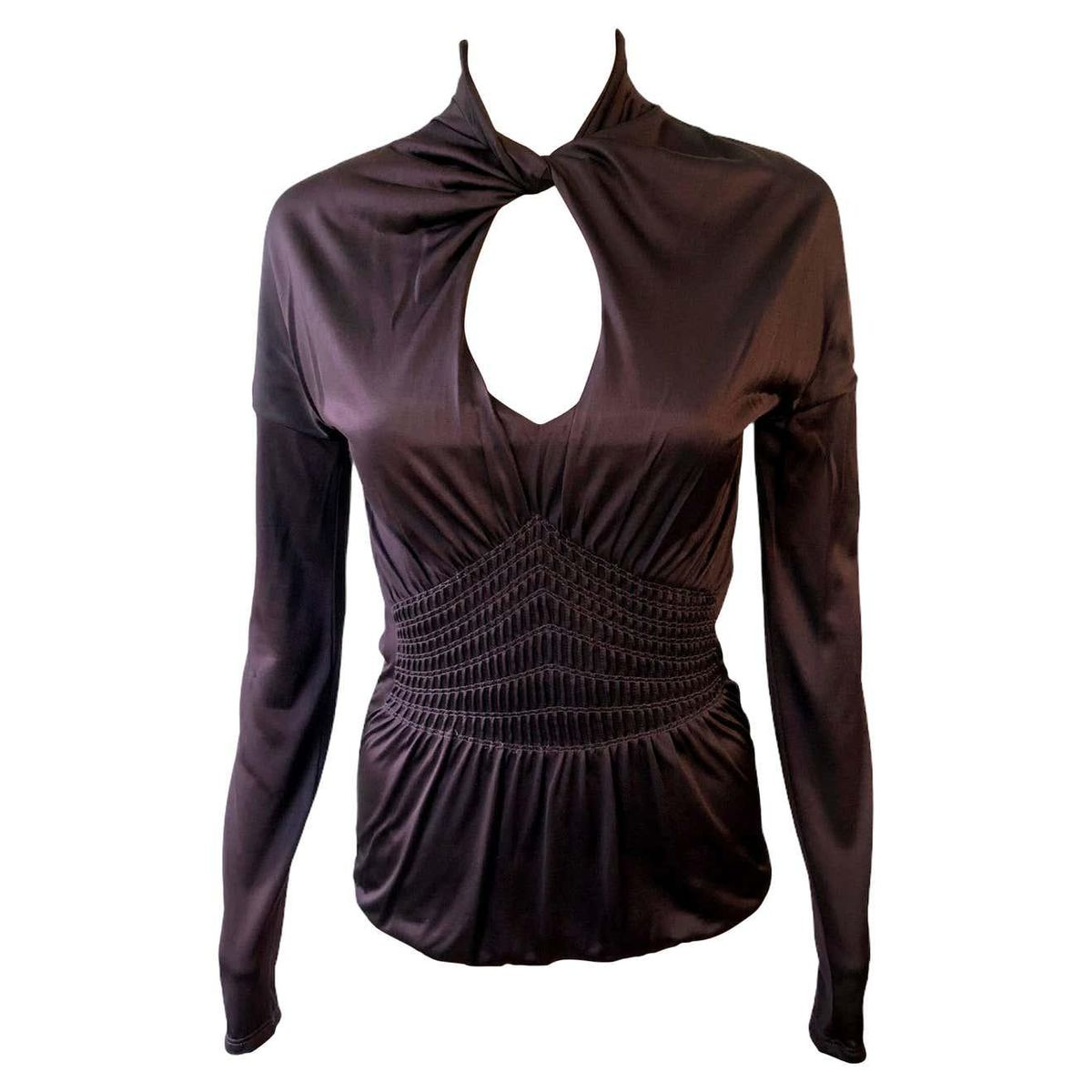 Tom Ford Keyhole Cutout Blouse Top