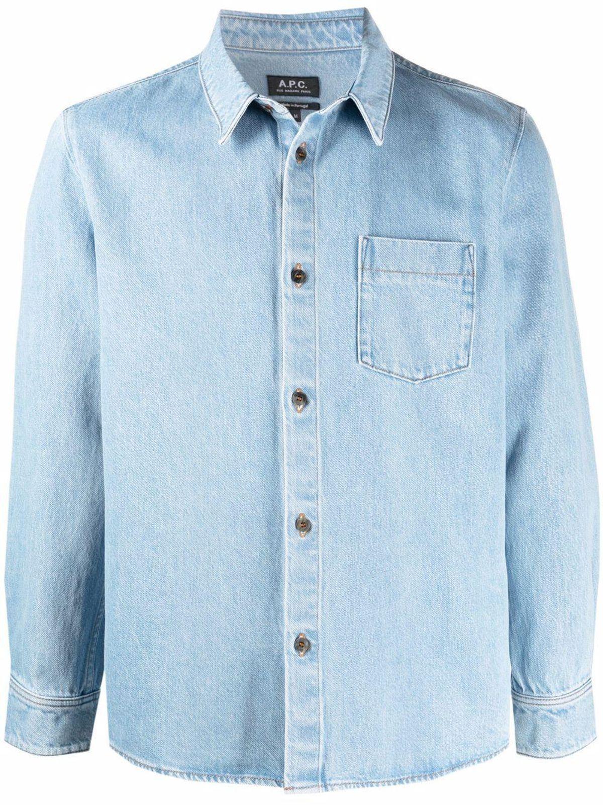 apc chest pocket denim shirt