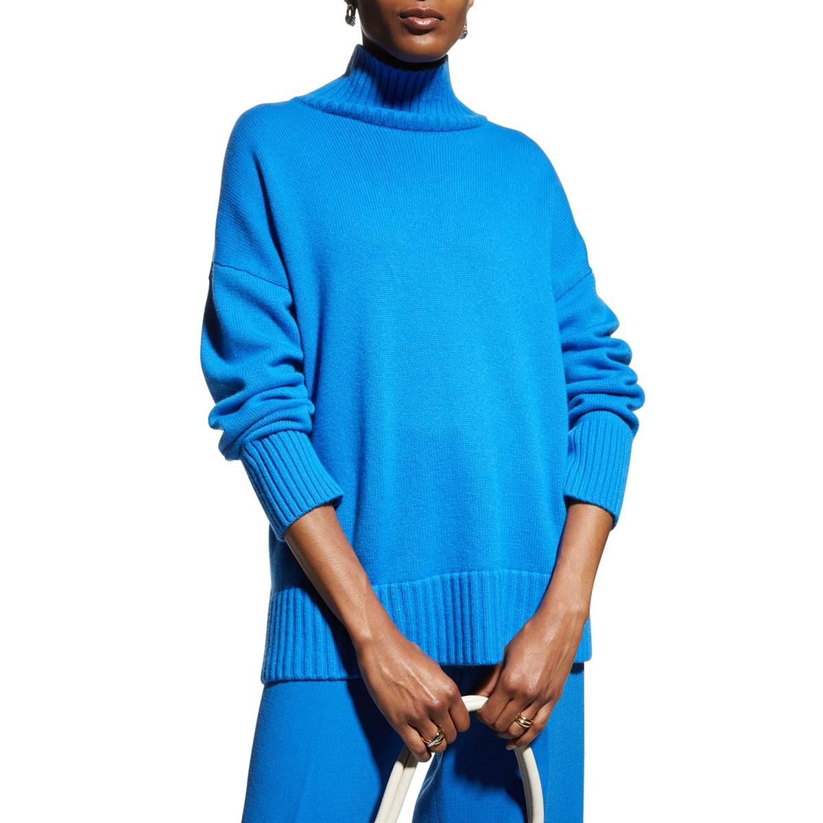 lafayette 148 new york 3 ply cashmere stand collar sweater