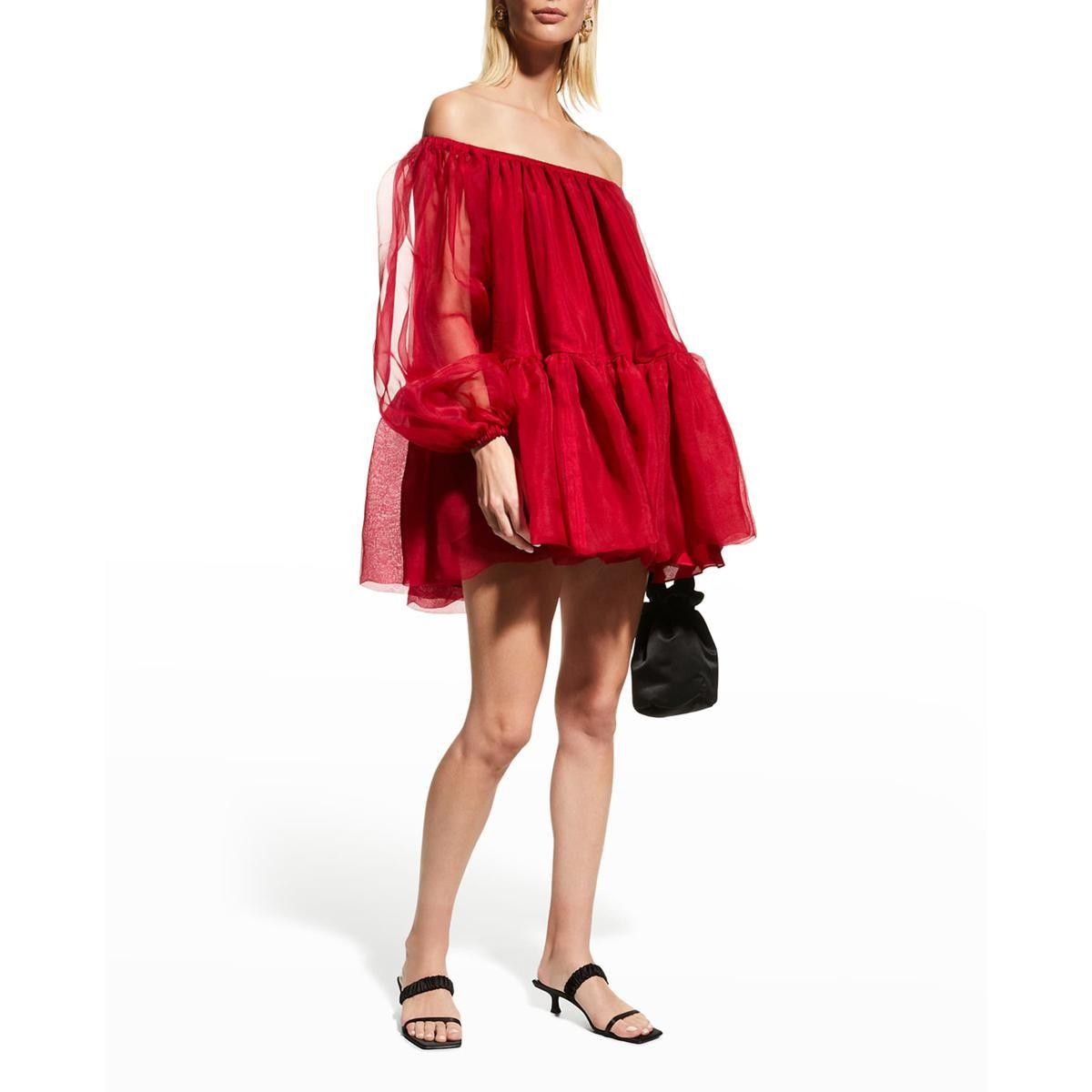 azeeza ellie off shoulder mini dress