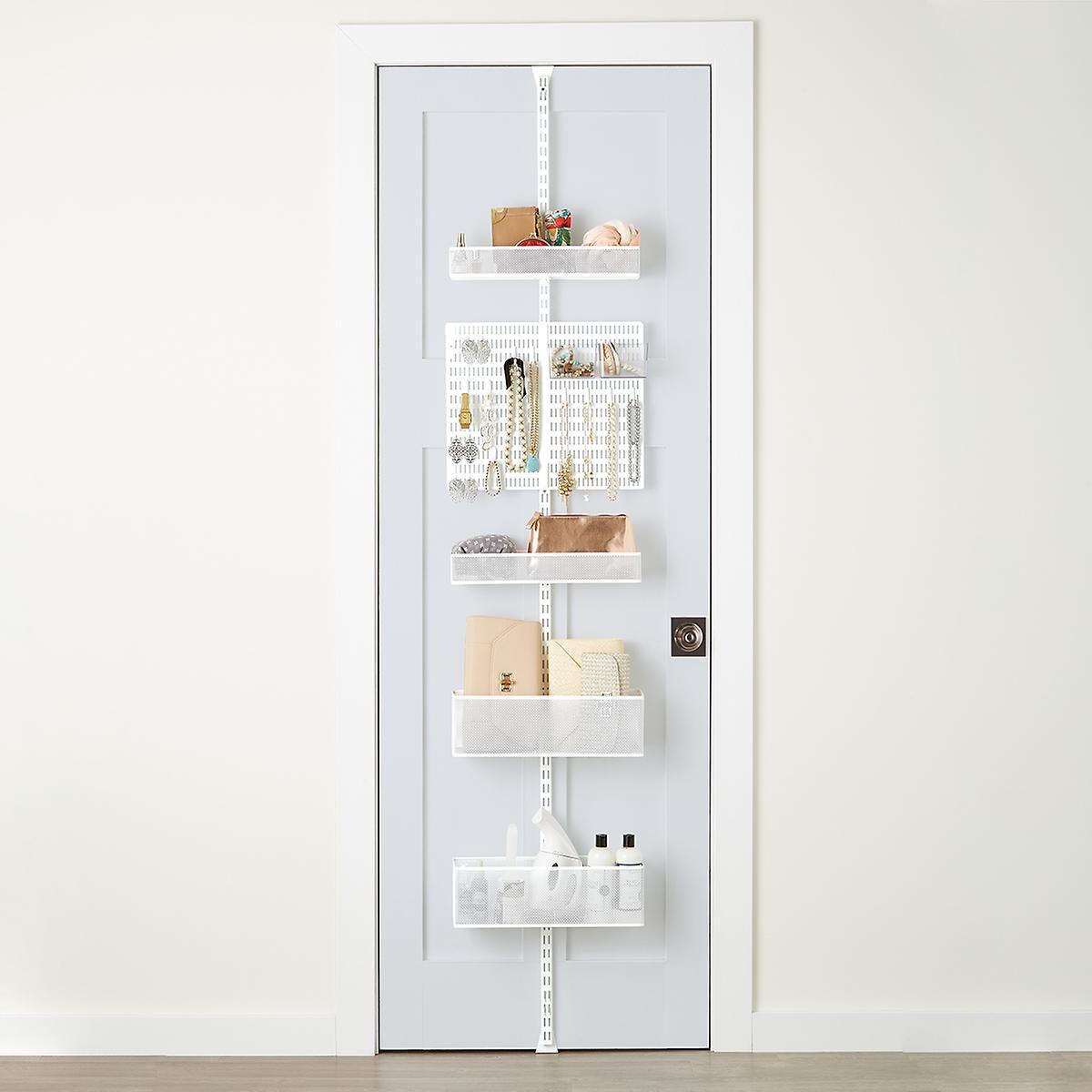 White Utility Mesh Closet Over the Door Rack