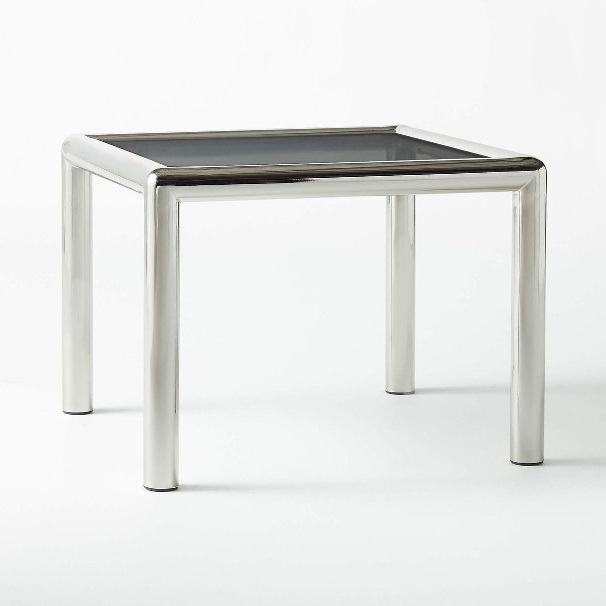 Conrad Wire Glass Side Table