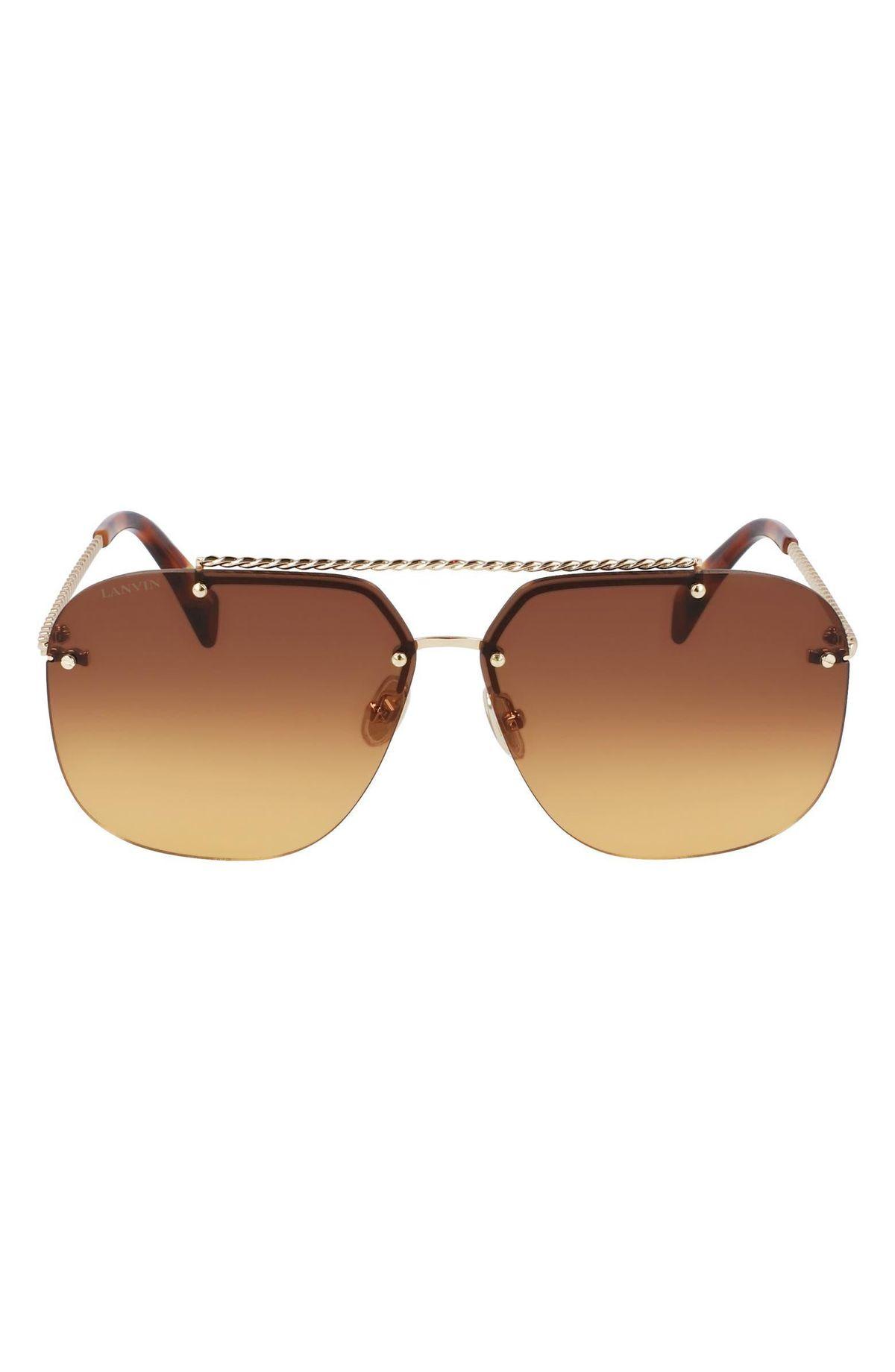Babe 64mm Gradient Oversize Aviator Sunglasses