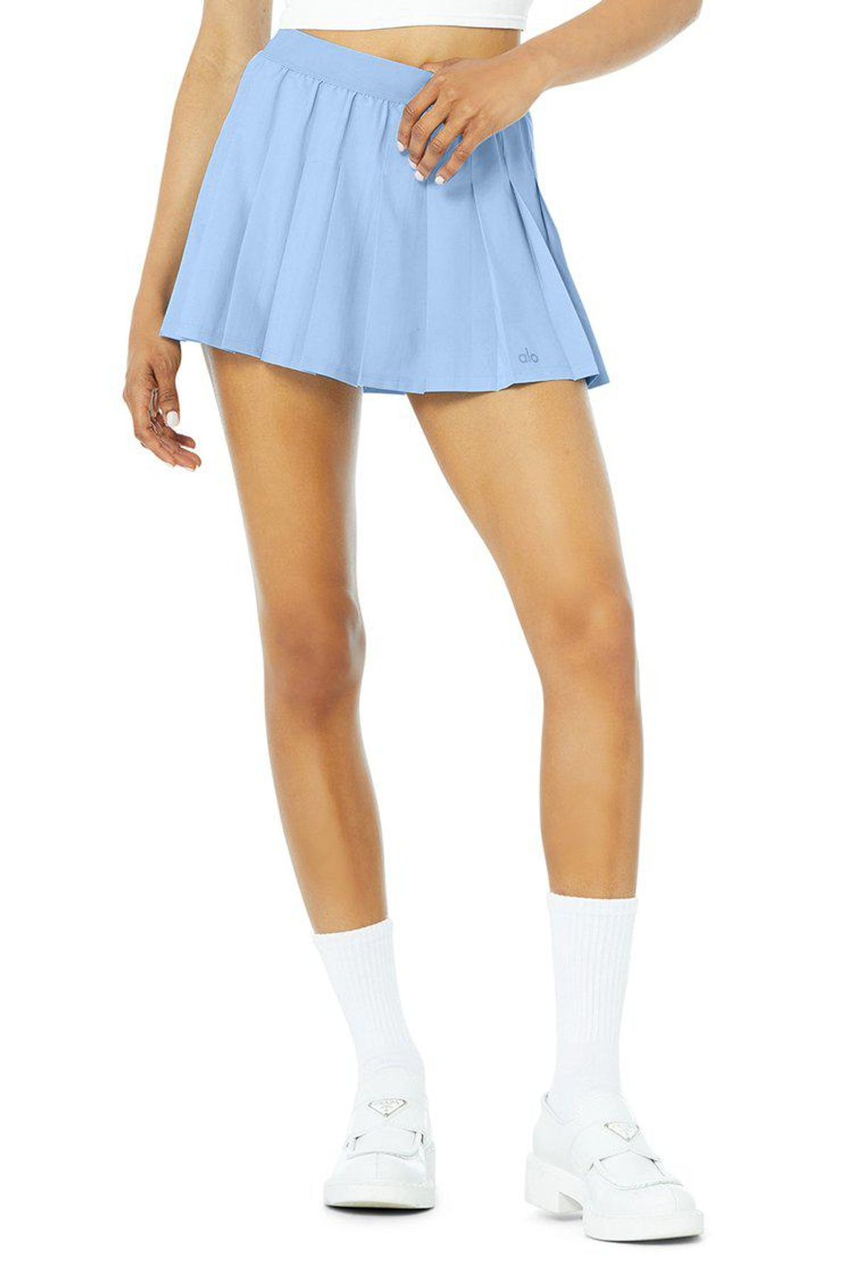 alo varsity tennis skirt