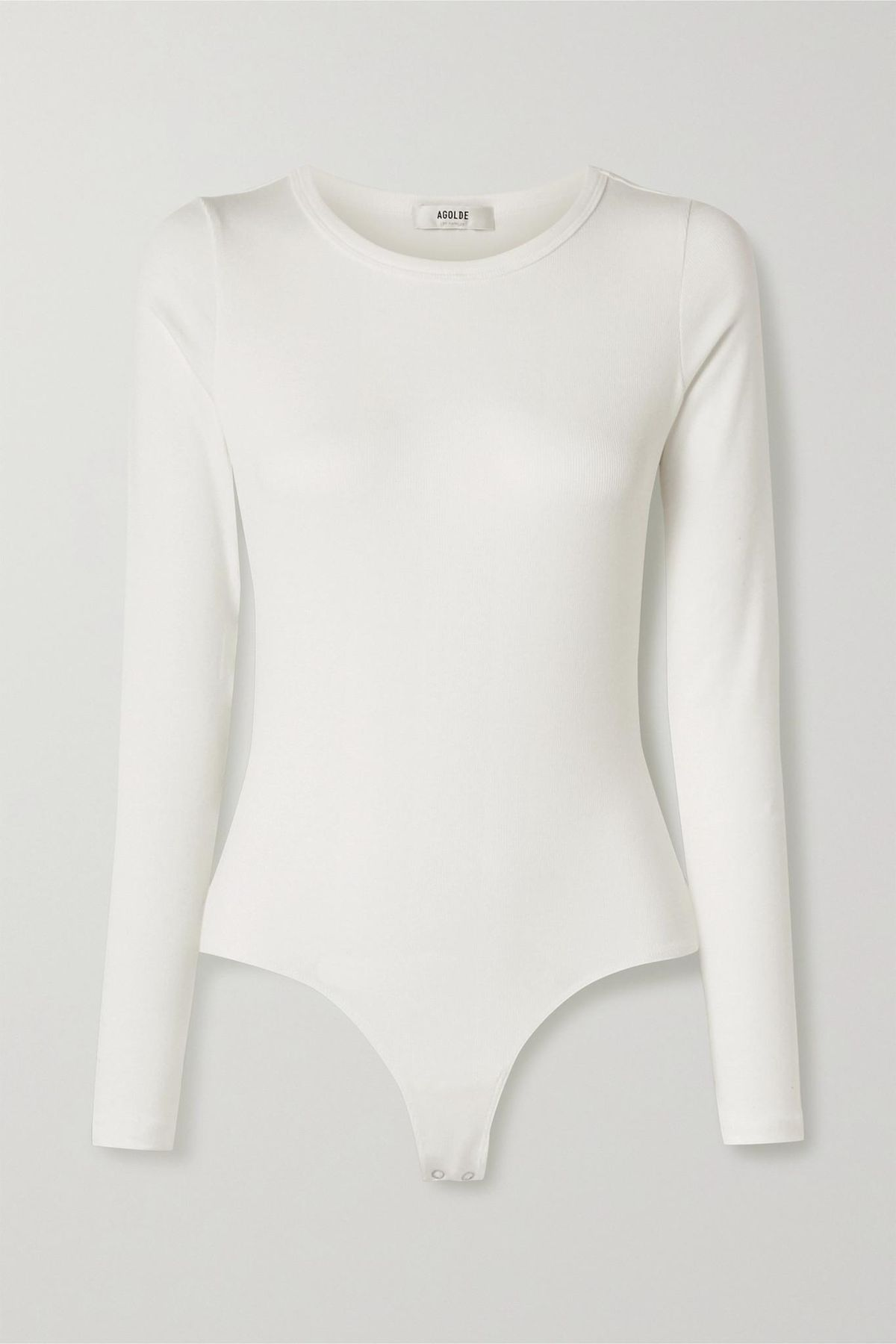 Leila Ribbed Stretch-micro Modal and Supima Cotton-blend Bodysuit