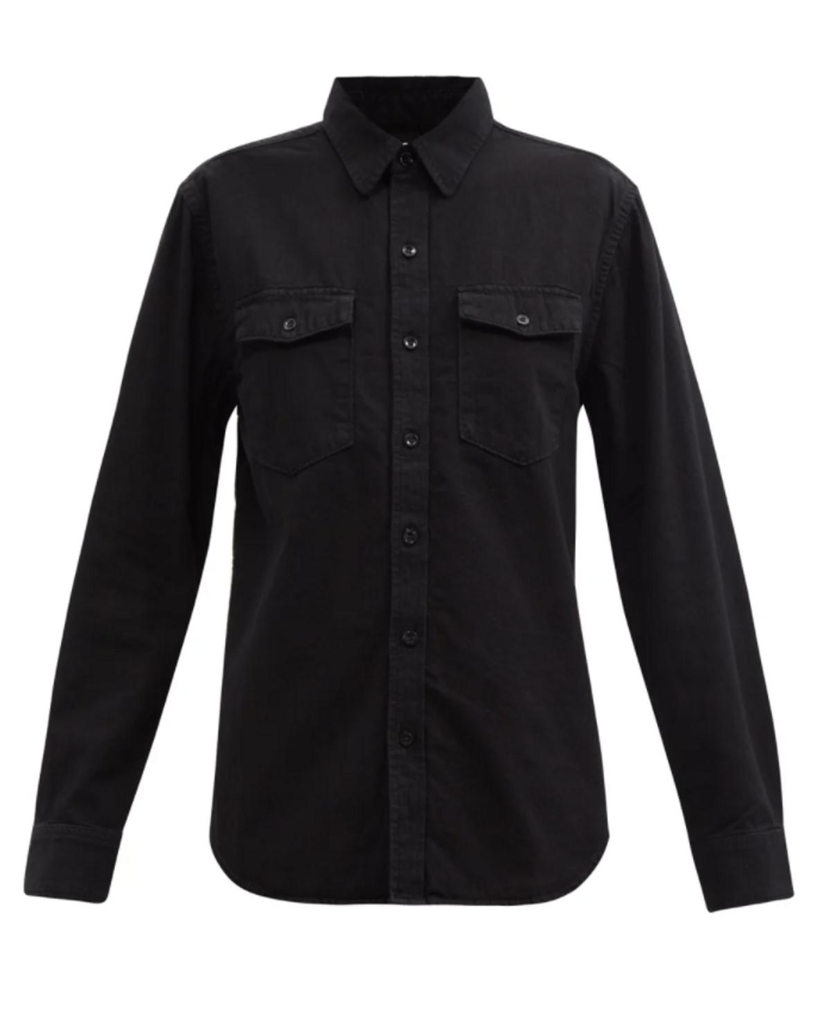 Flap-pocket Denim Shirt