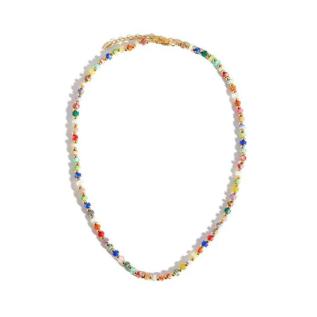 Short-beaded Gemstone Necklace
