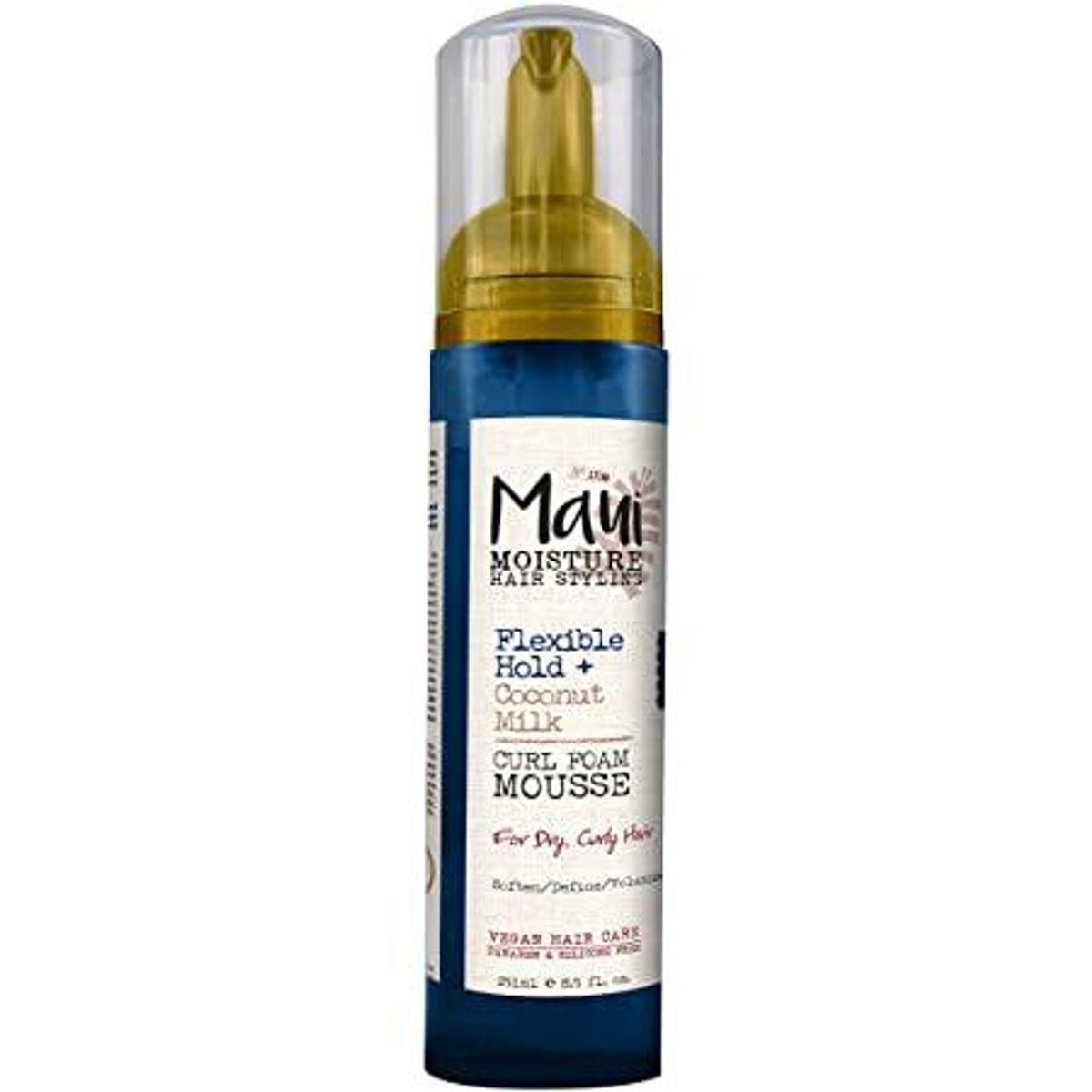 maui moisture flexible hold and coconut milk curl foam mousse