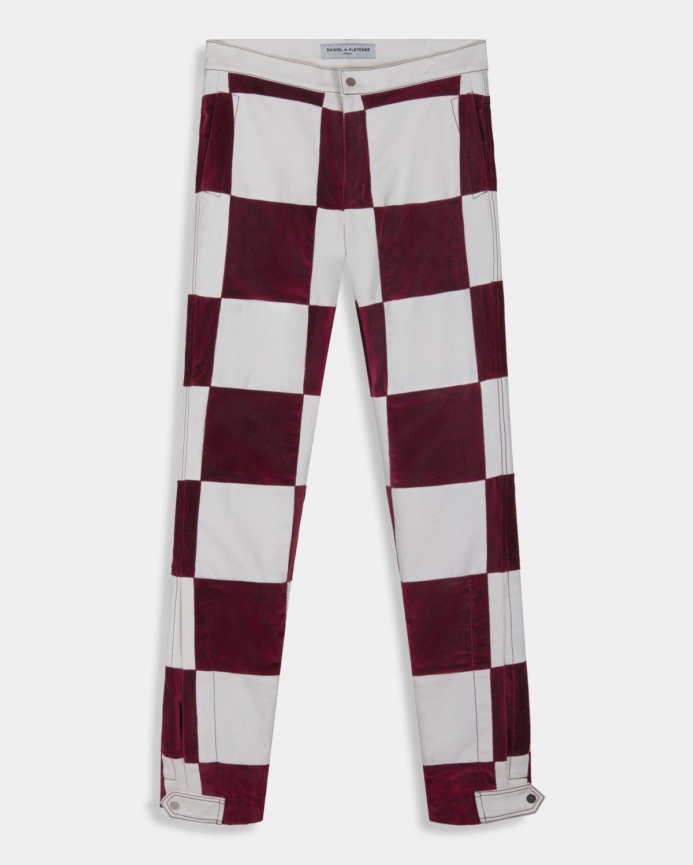 daniel w fletcher checkerboard scraps trousers