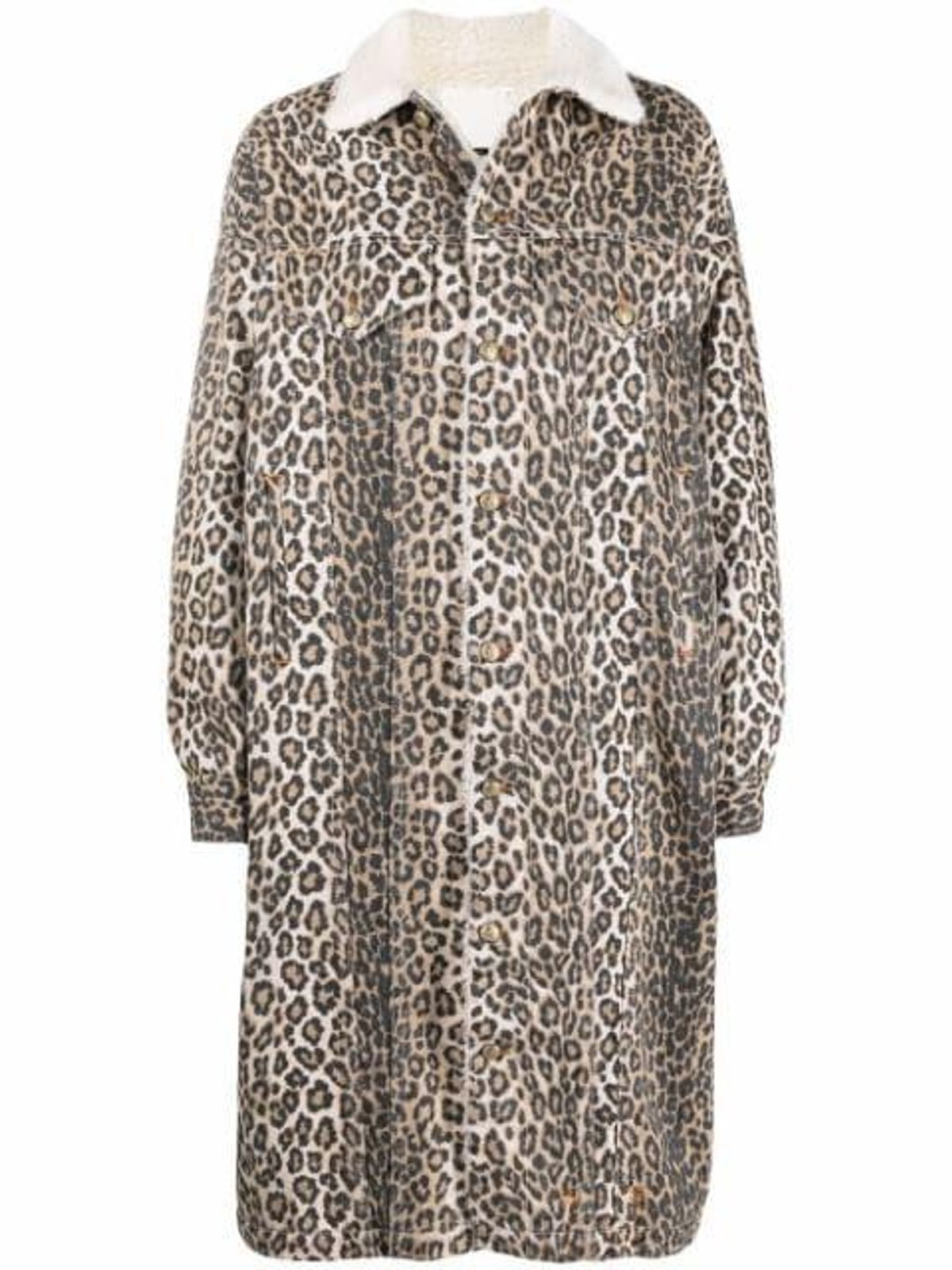 Lyle Leopard-print Trucker Jacket