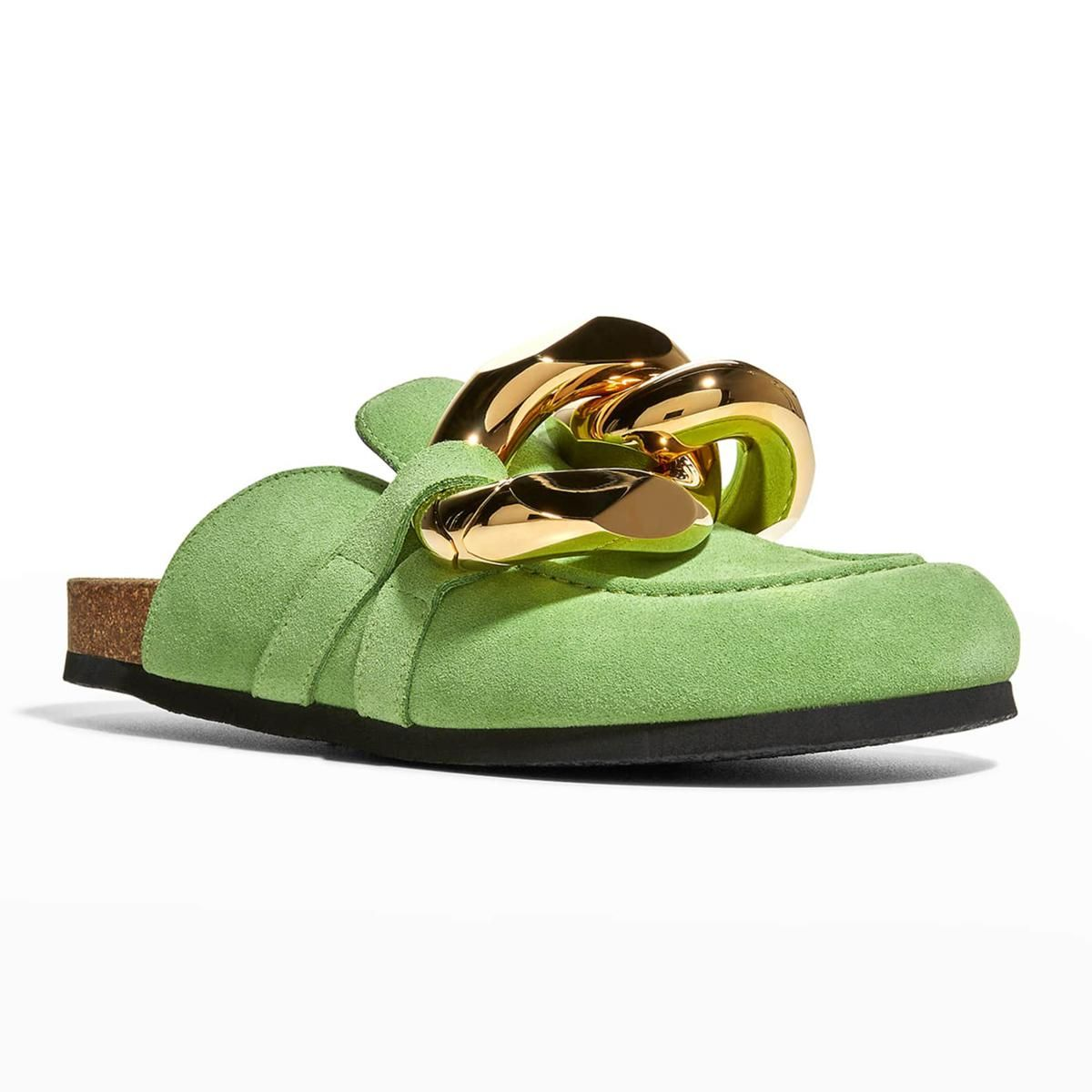 jw anderson suede chunky chain mules