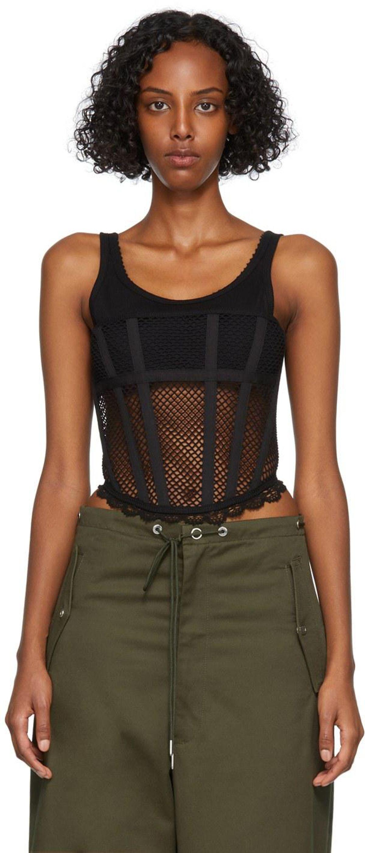 dion lee net lace suspended corset