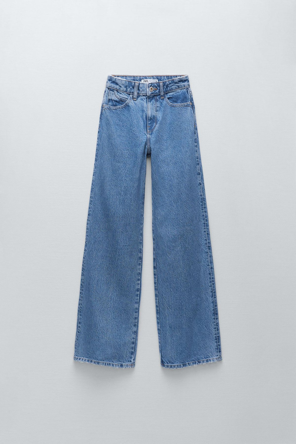zara z1975 hi rise wide leg jeans