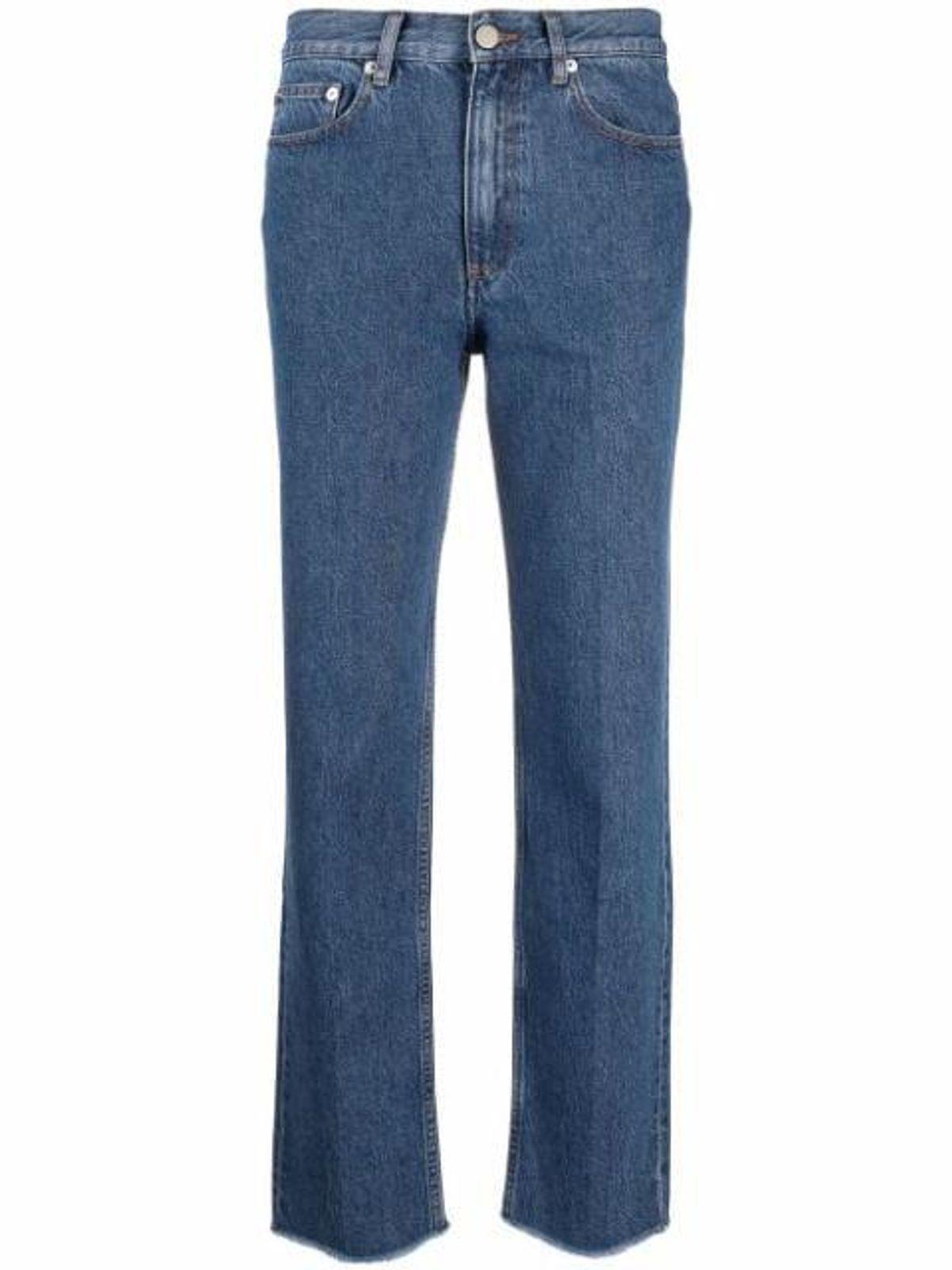 High-rise Straight-leg Jeans