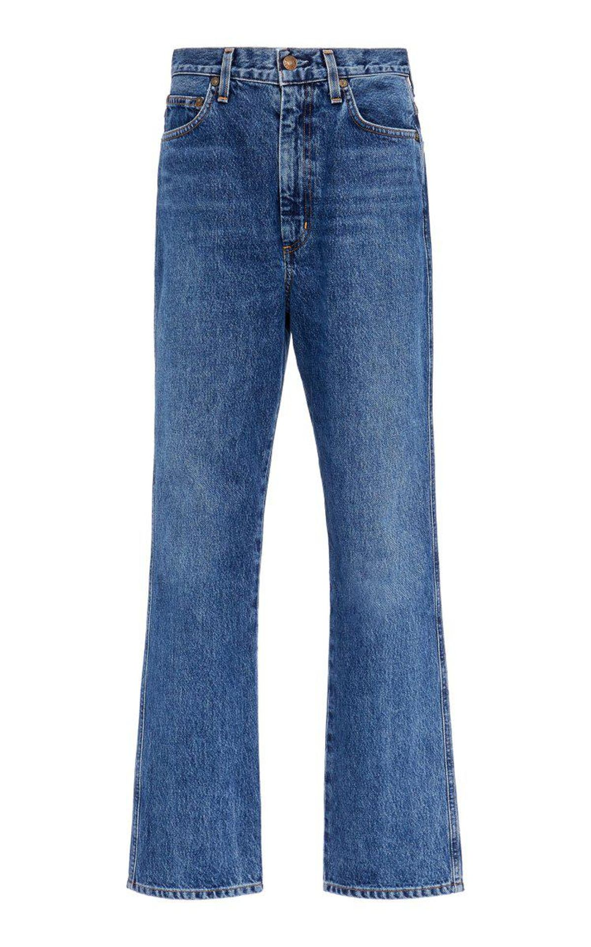 Pinch-waist Rigid High-rise Kick-leg Jeans