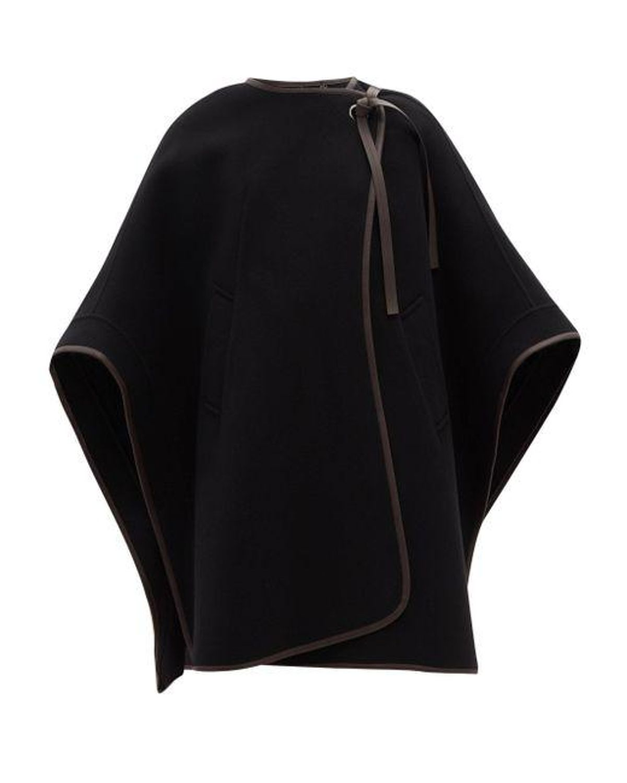chloe double faced virgin wool blend cape