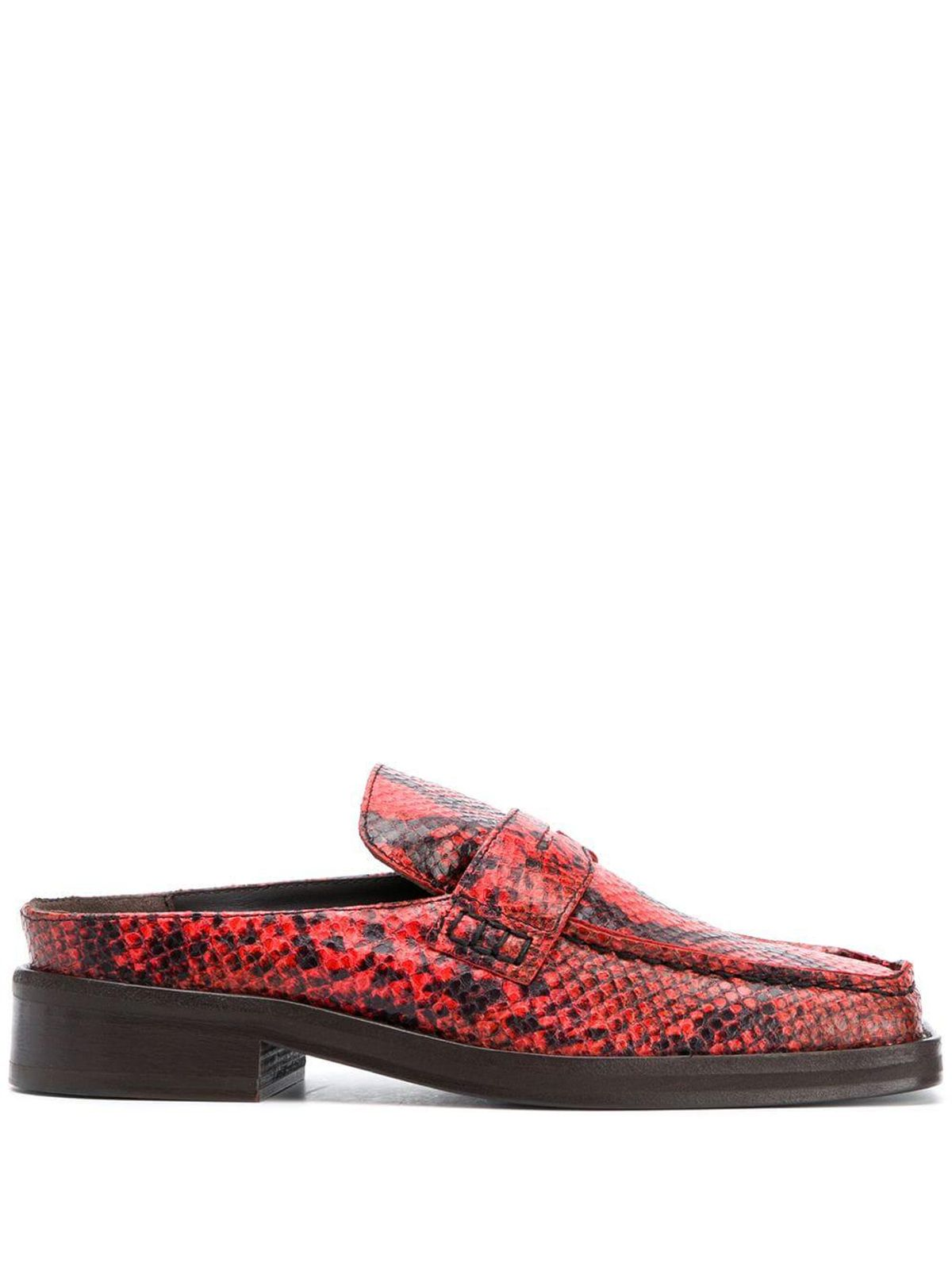 martine rose arches snakeskin print mules