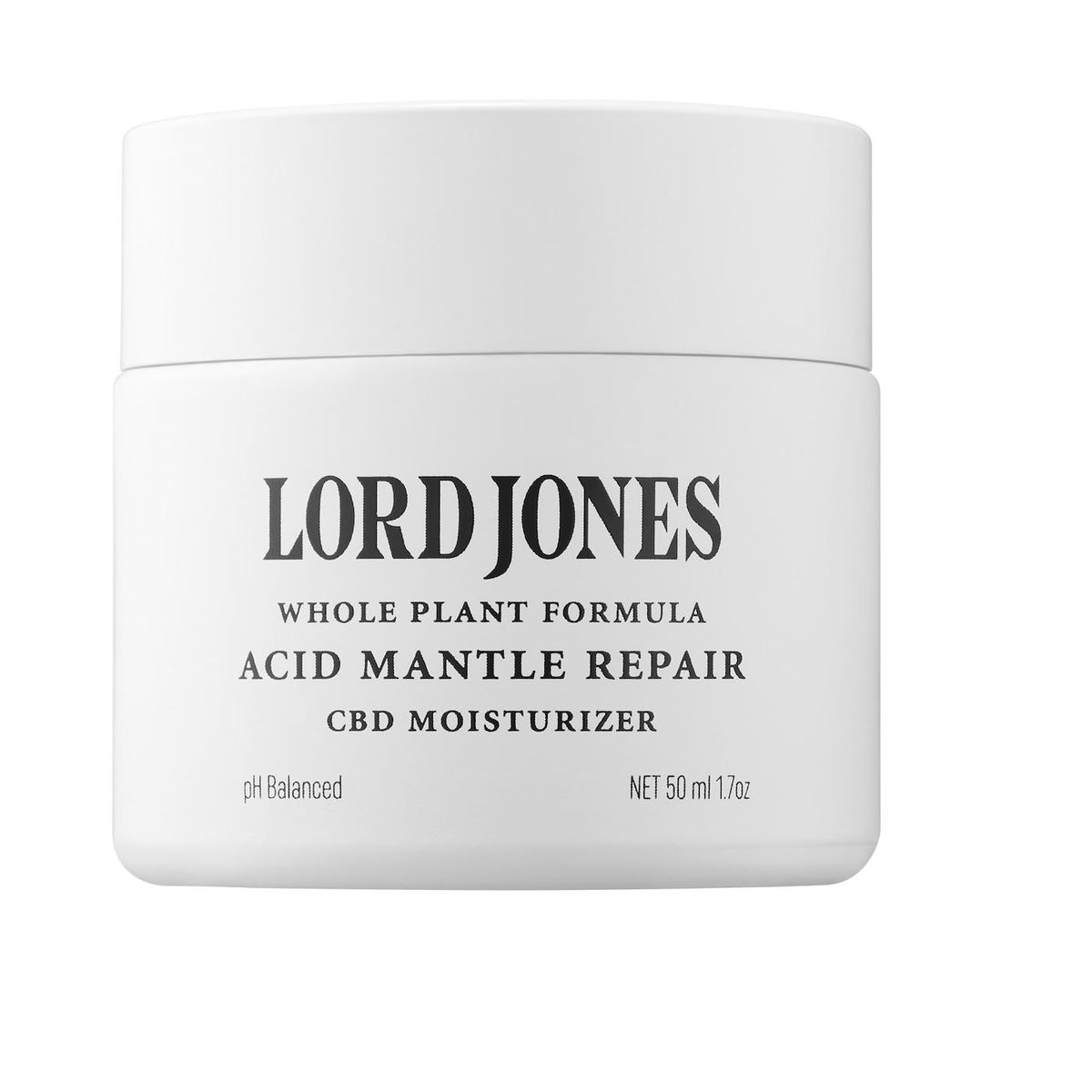 lord jones acid mantle repair moisturizer with 250mg cbd and ceramides
