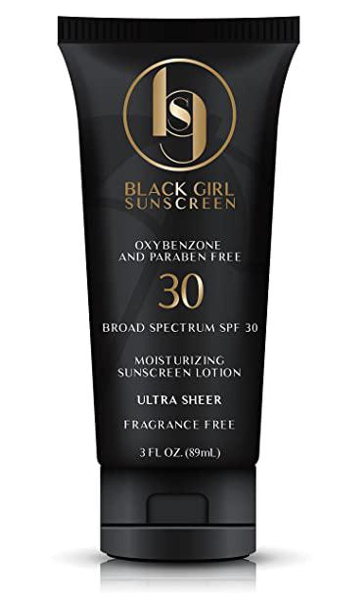 black girl sunscreen broad spectrum spf 30