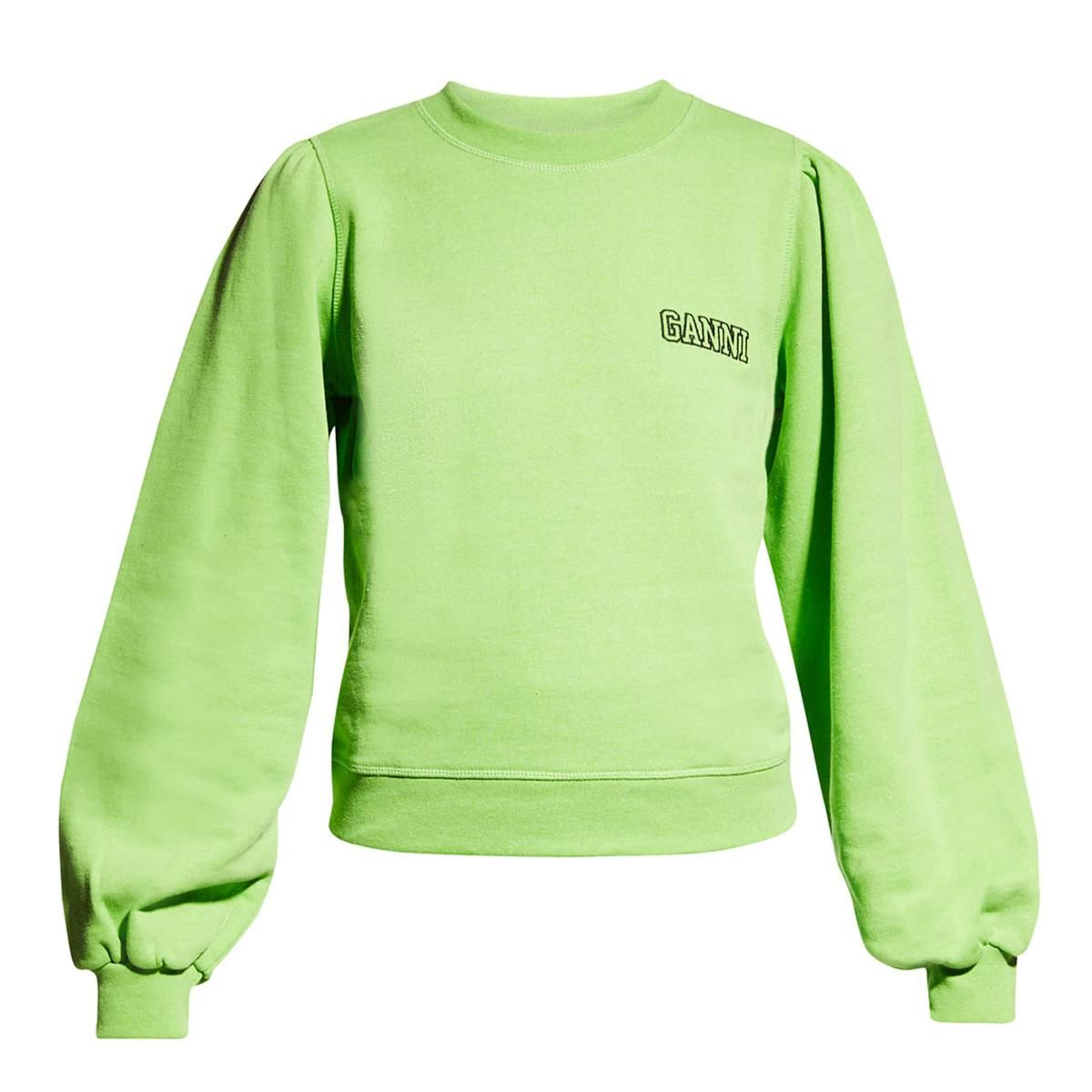 ganni software isoli pull sleeve sweatshirt