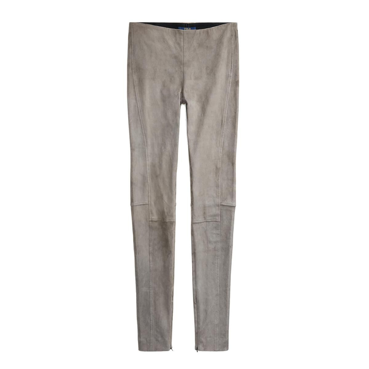 polo ralph lauren leland stretch suede skinny pants